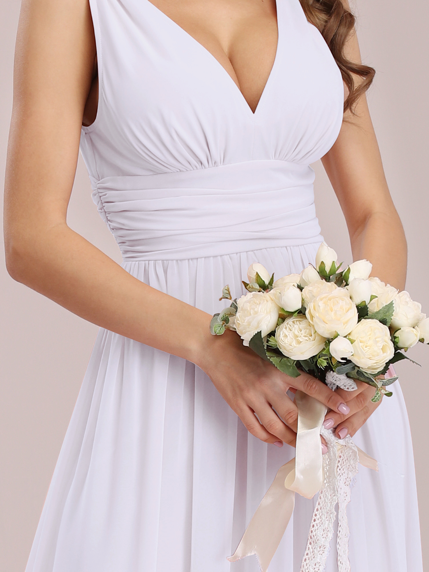0df2177b43 Long Bridesmaid Evening Formal Dresses V-neck Party Prom Gown 09016 ...