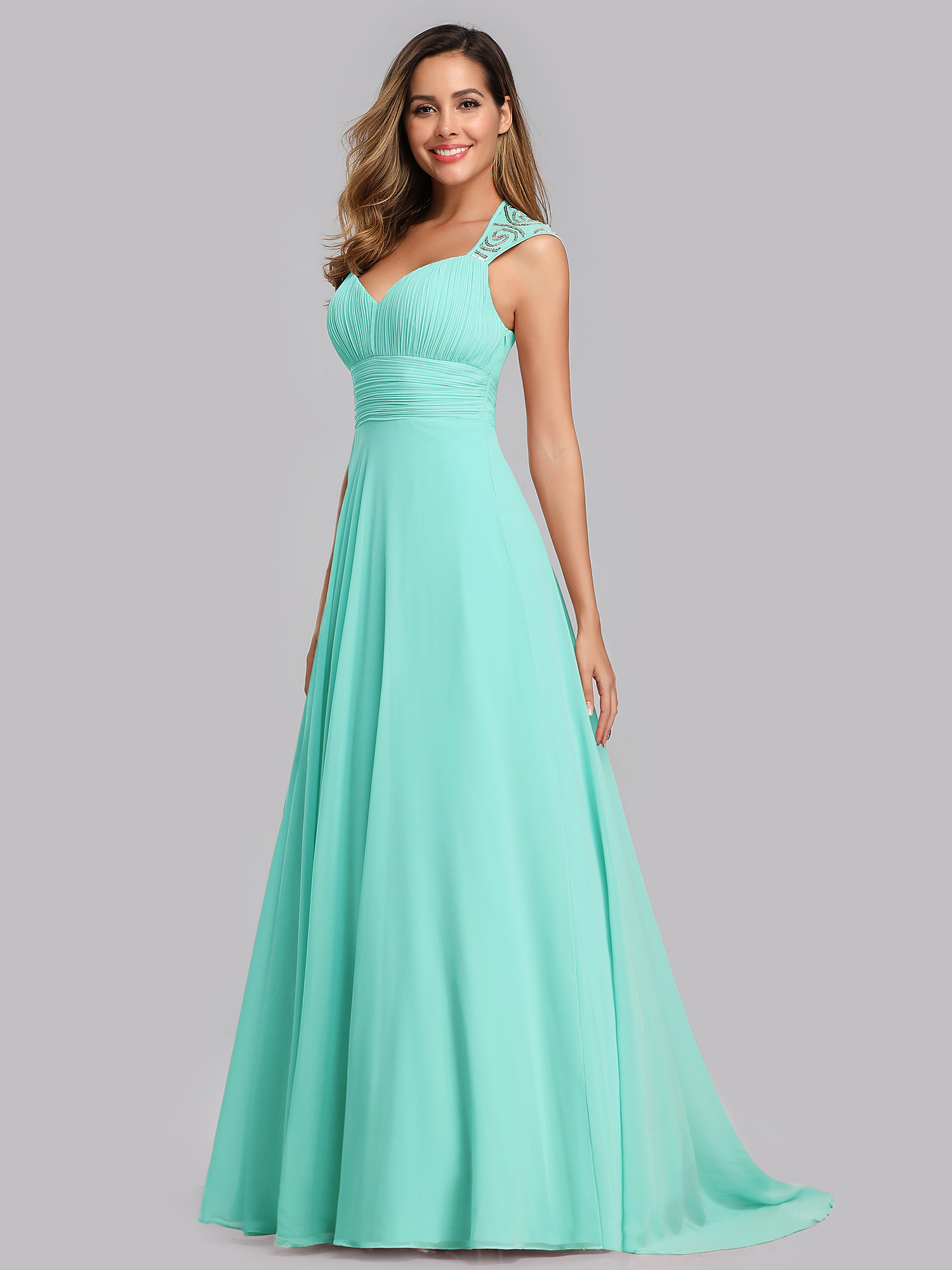 Ever-Pretty US Long Maxi Chiffon Formal Evening Dresses V-Neck Party ...