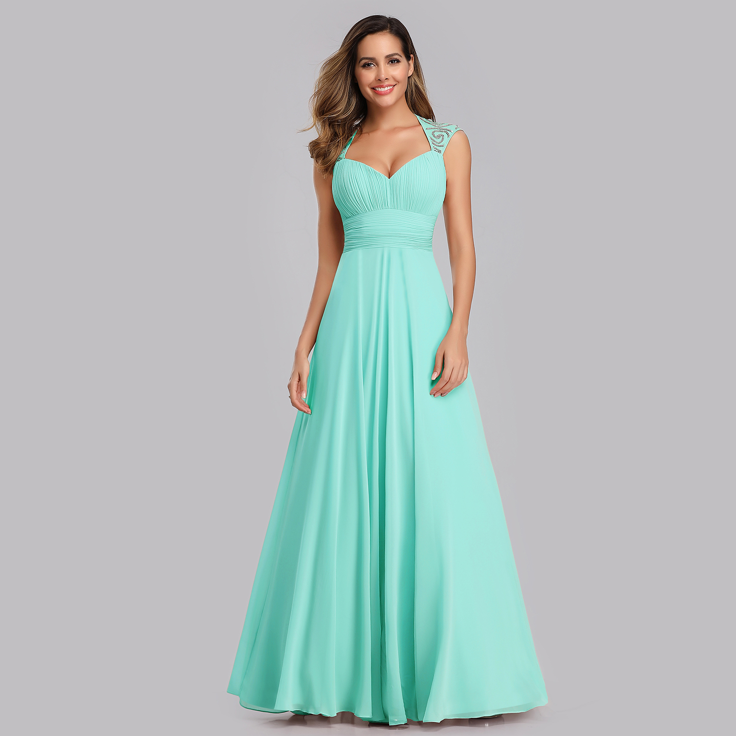 Ever-Pretty Long Maxi Chiffon Formal Evening Party Prom Dresses V ...