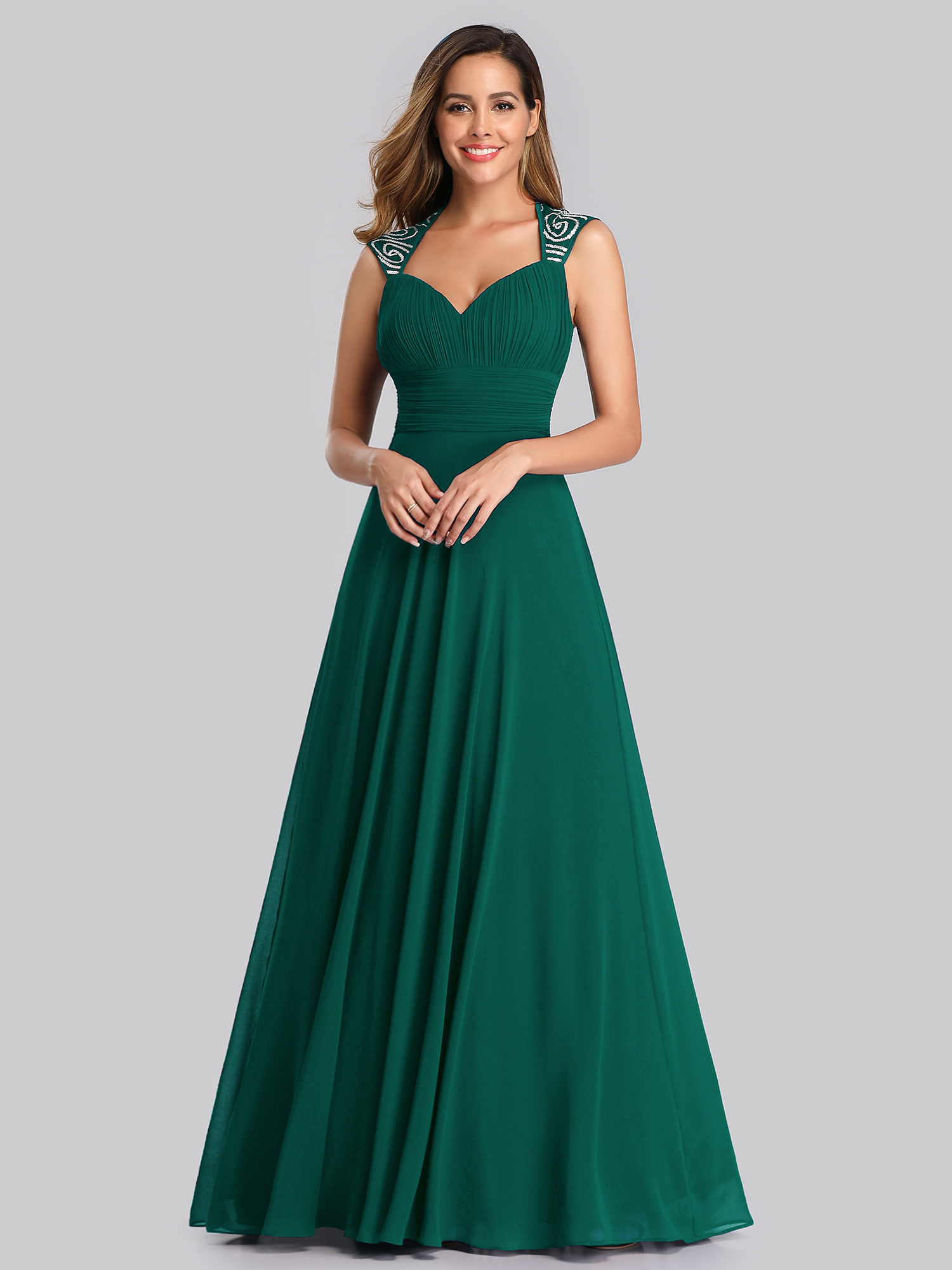 ever pretty long chiffon wedding bridesmaid formal party