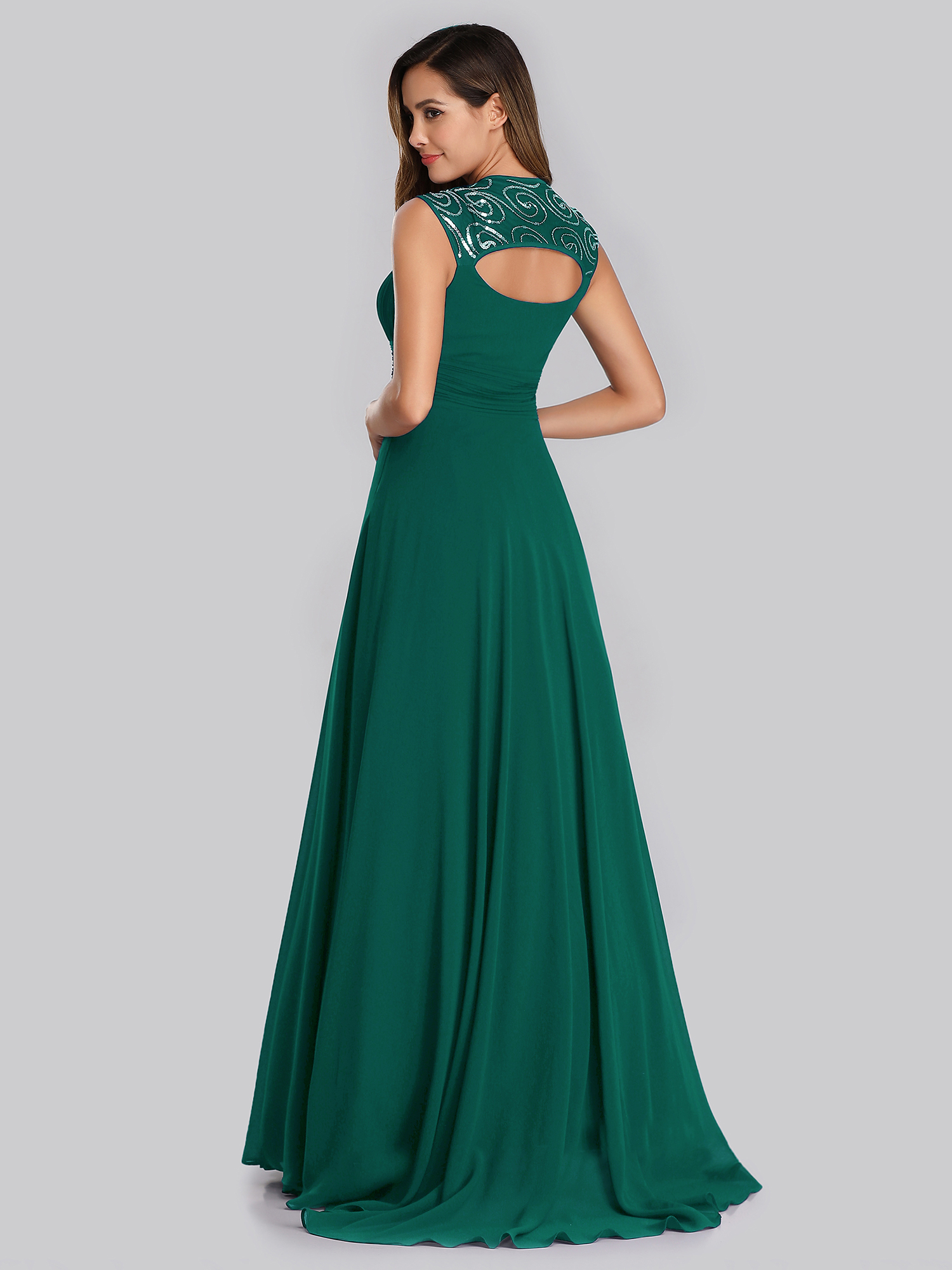 Ever-Pretty-Cap-Sleeve-Bridesmaid-Dresses-Elegant-Long-V-neck-Evening-Gown-09672 thumbnail 17