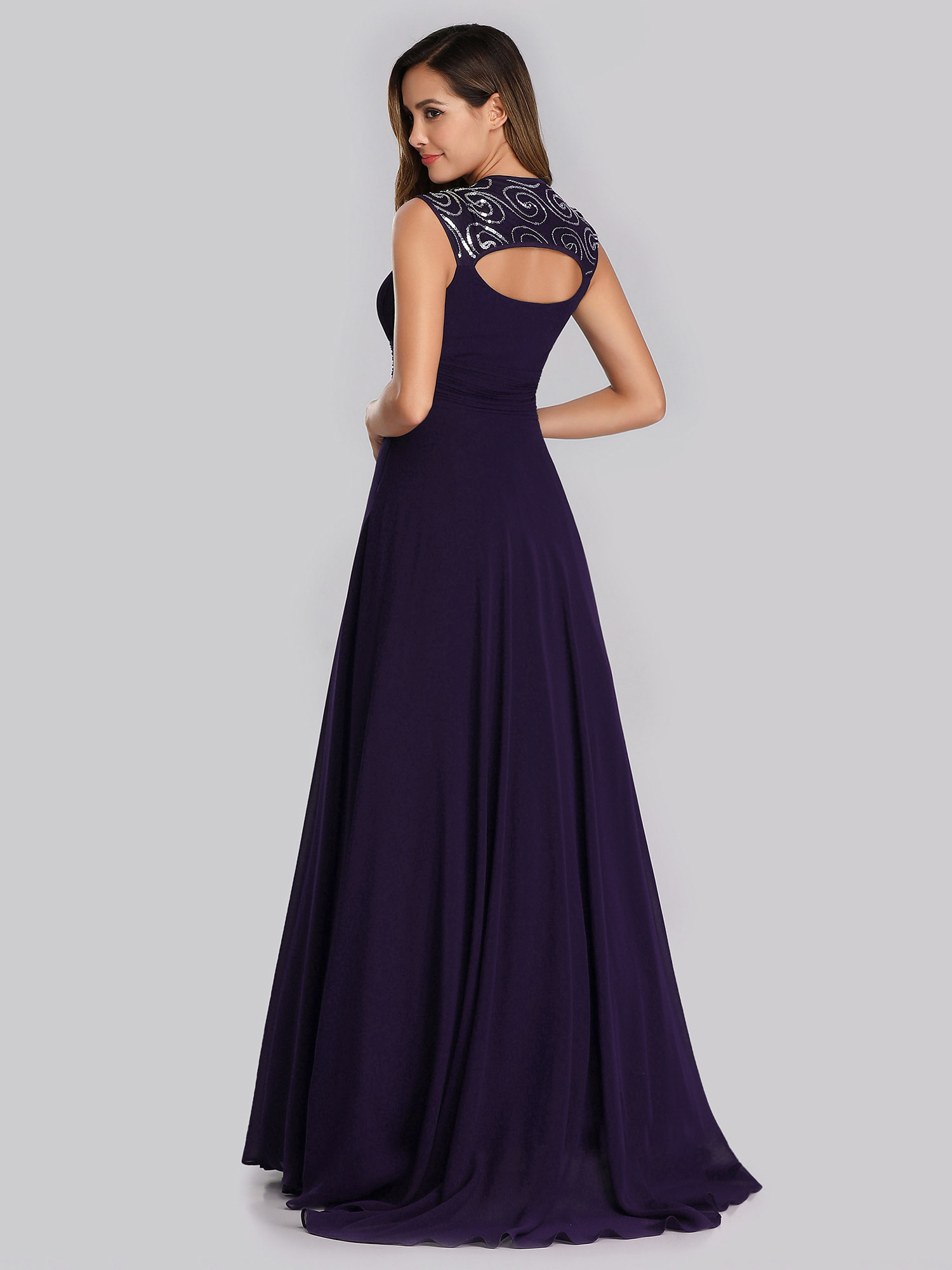 Ever-Pretty-Cap-Sleeve-Bridesmaid-Dresses-Elegant-Long-V-neck-Evening-Gown-09672 thumbnail 19