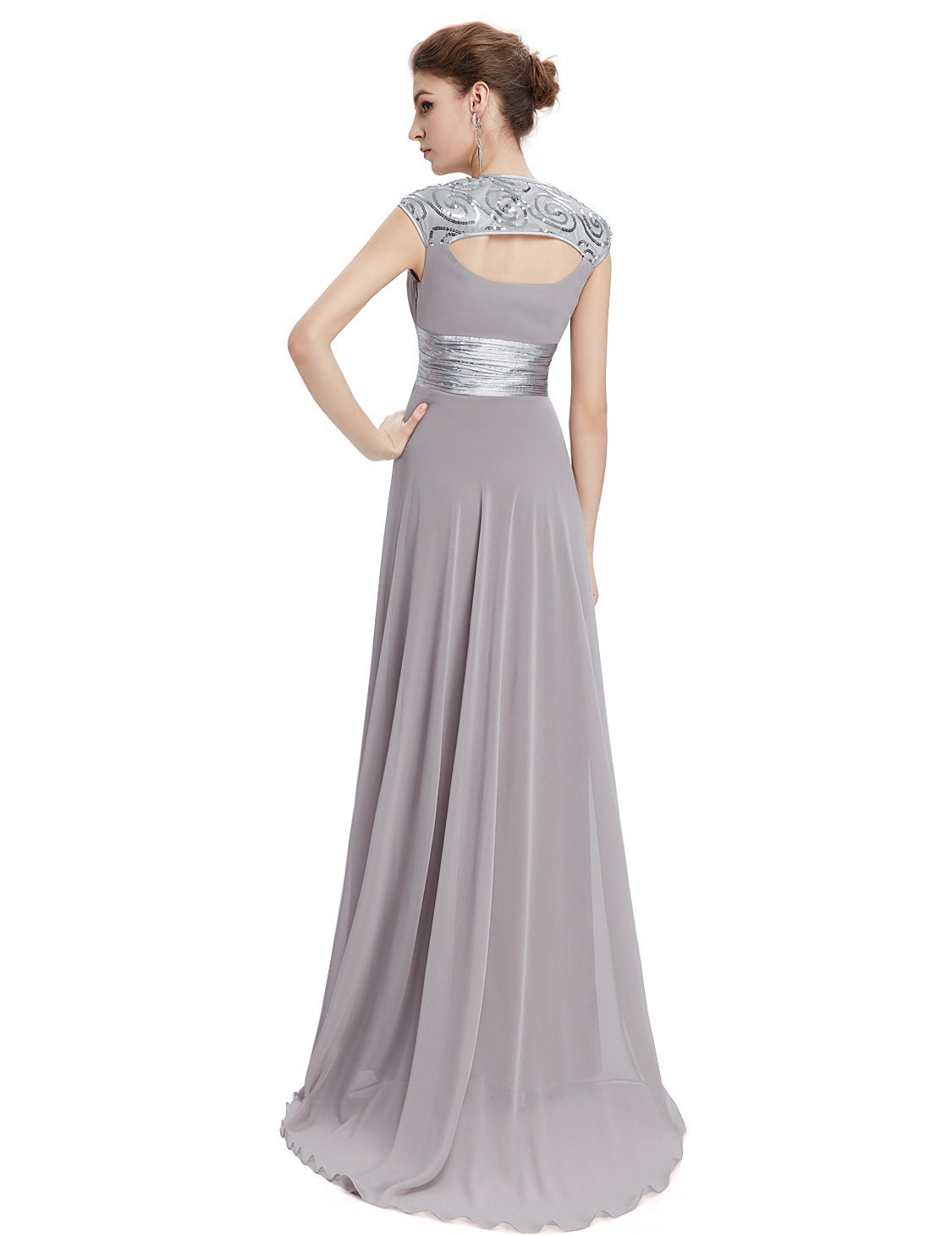 Ever-Pretty-Cap-Sleeve-Bridesmaid-Dresses-Elegant-Long-V-neck-Evening-Gown-09672 thumbnail 21