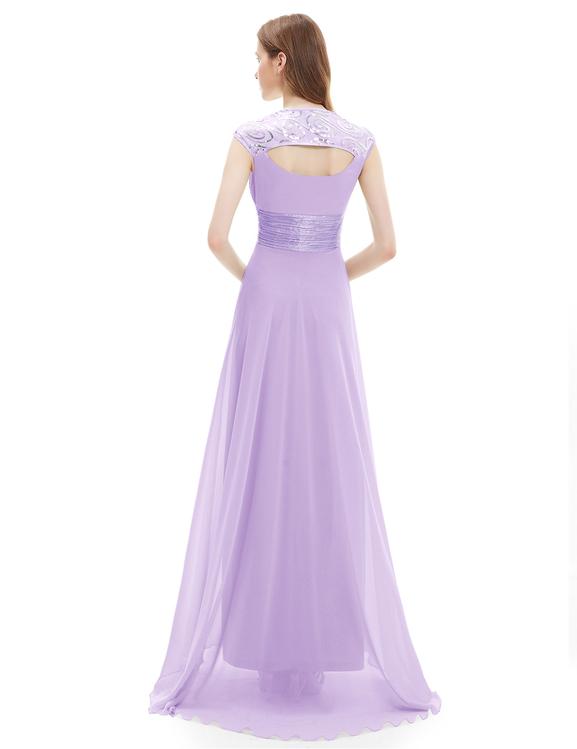 Ever-Pretty-Cap-Sleeve-Bridesmaid-Dresses-Elegant-Long-V-neck-Evening-Gown-09672 thumbnail 24