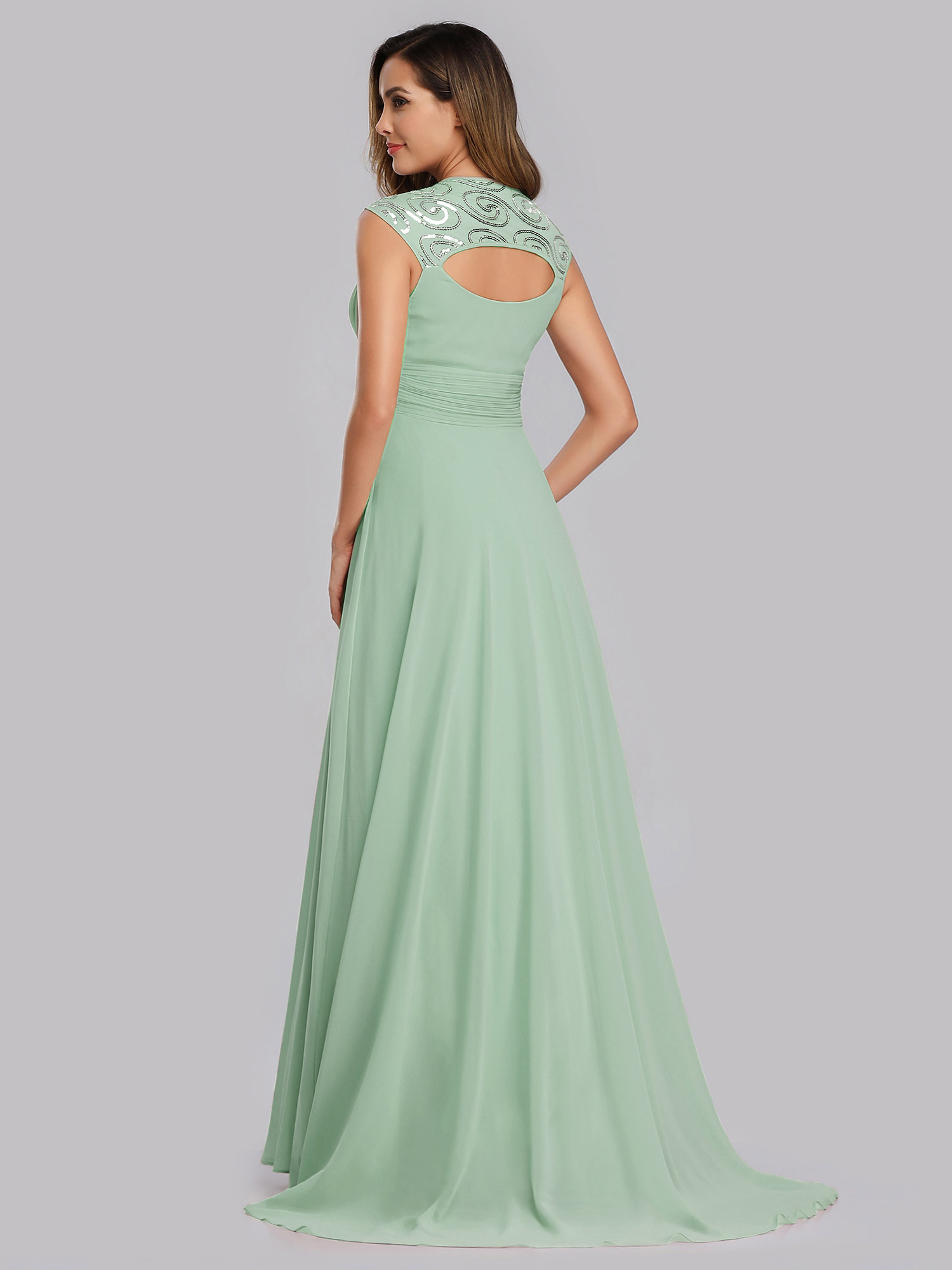 Ever-Pretty-Cap-Sleeve-Bridesmaid-Dresses-Elegant-Long-V-neck-Evening-Gown-09672 thumbnail 26
