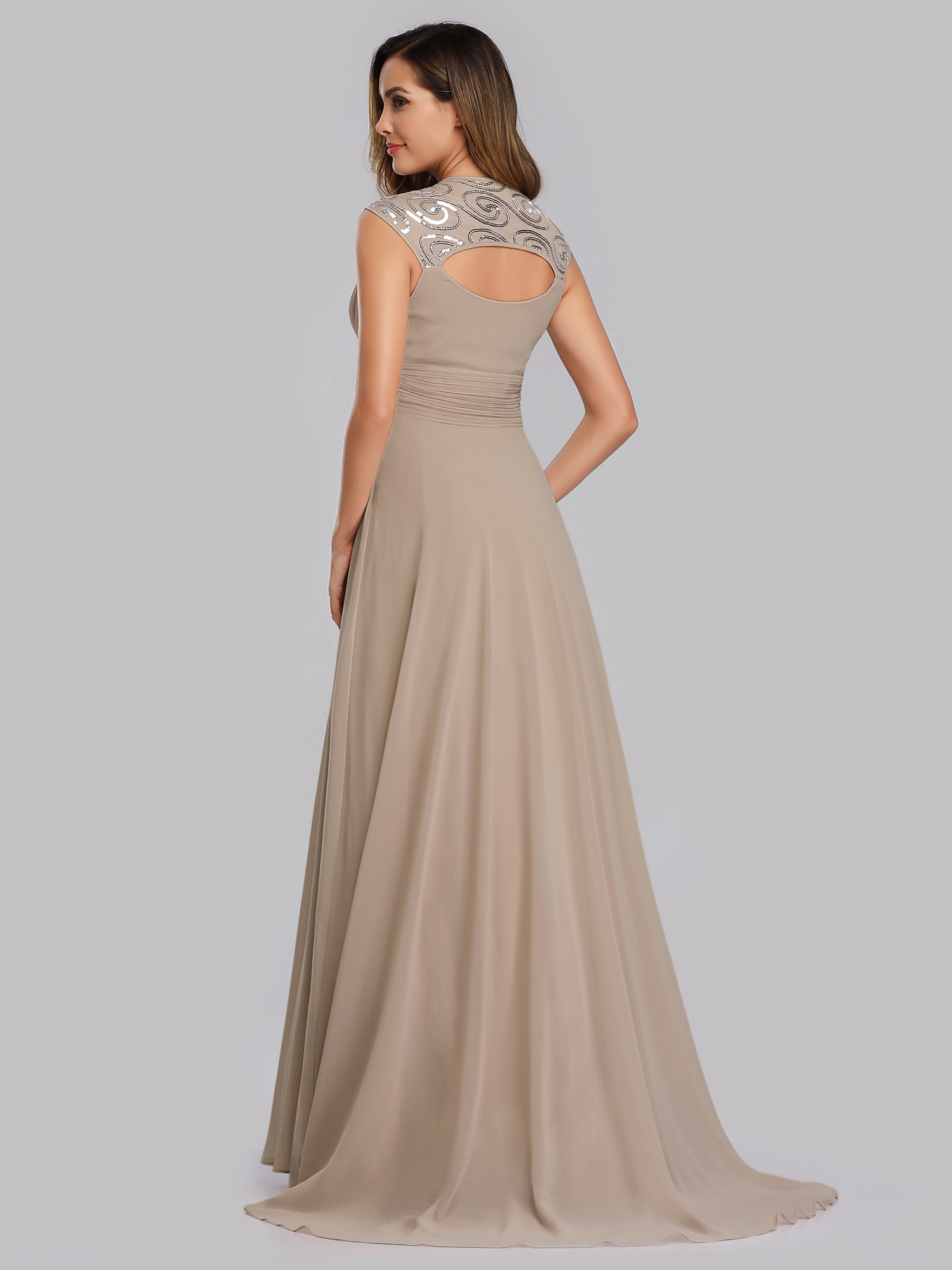 Ever-Pretty-Cap-Sleeve-Bridesmaid-Dresses-Elegant-Long-V-neck-Evening-Gown-09672 thumbnail 28