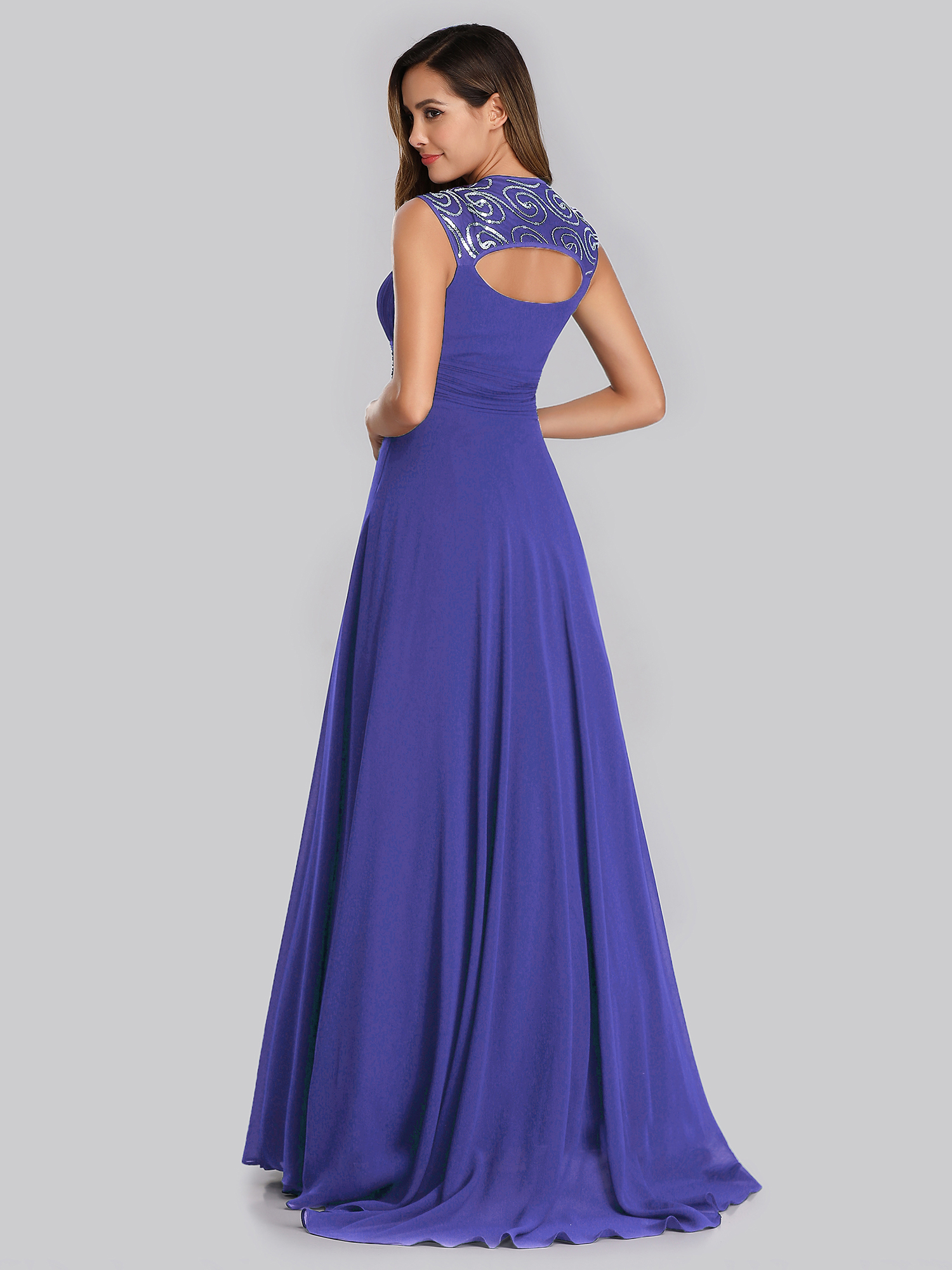 Ever-Pretty-Cap-Sleeve-Bridesmaid-Dresses-Elegant-Long-V-neck-Evening-Gown-09672 thumbnail 48