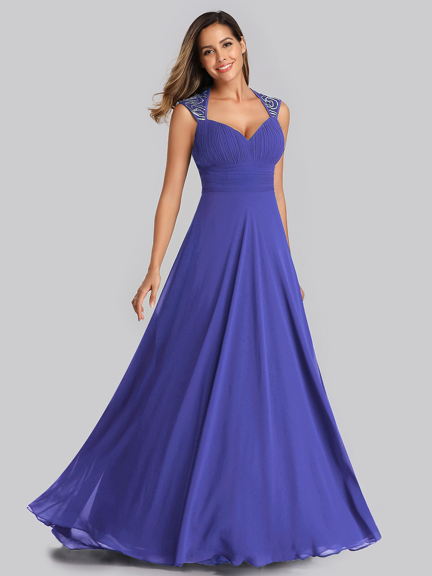Ever-Pretty Long Formal Bridesmaid Dresses Backless Wedding Evening ...