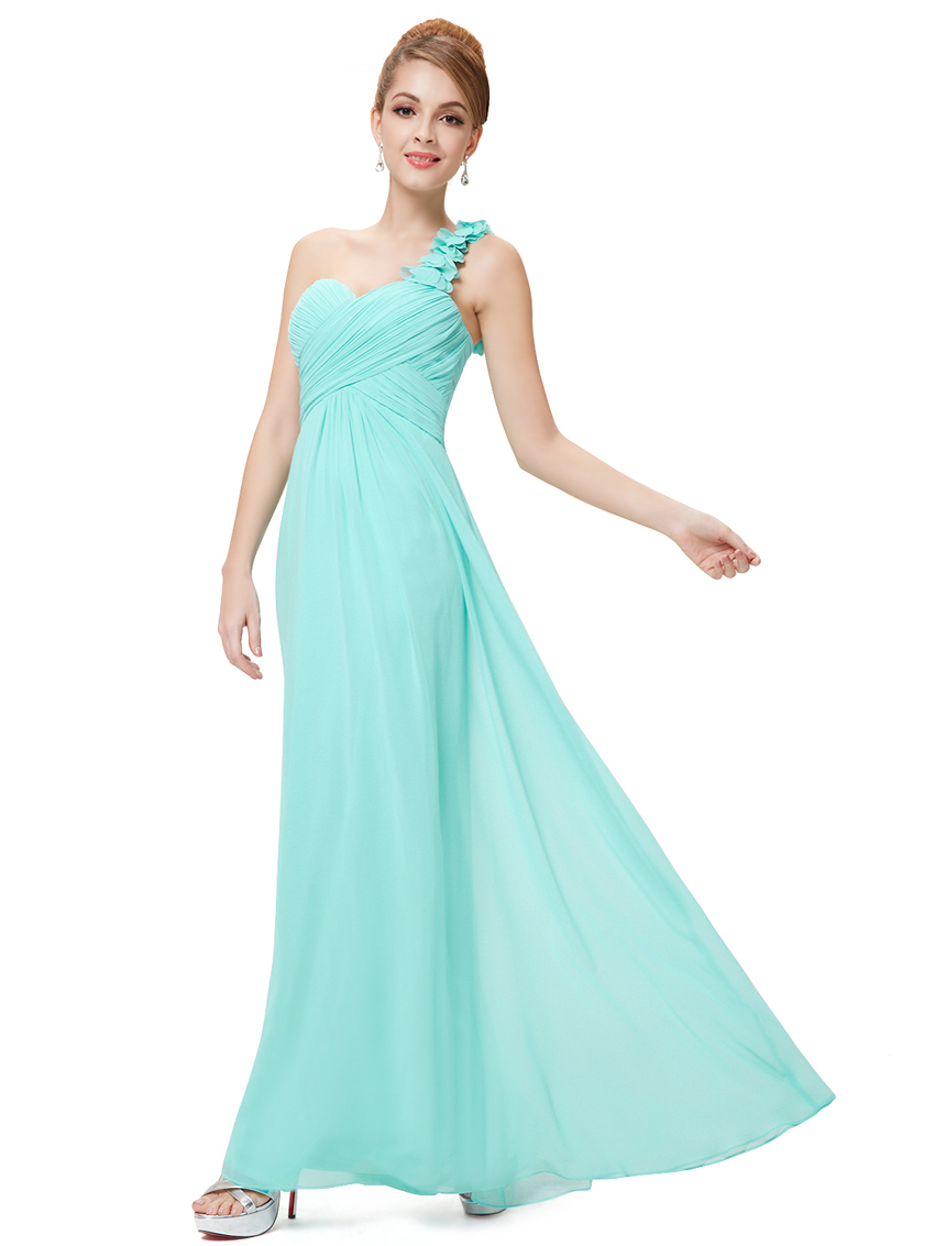 Ever-Pretty Long One Shoulder Evening Dresses Chiffon Backless Party ...