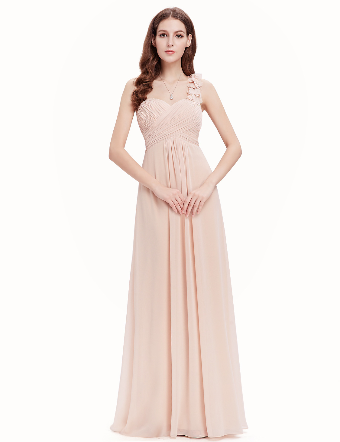 Ever-Pretty One-shoulder Chiffon Bridesmaid Dress Long Evening Prom ...