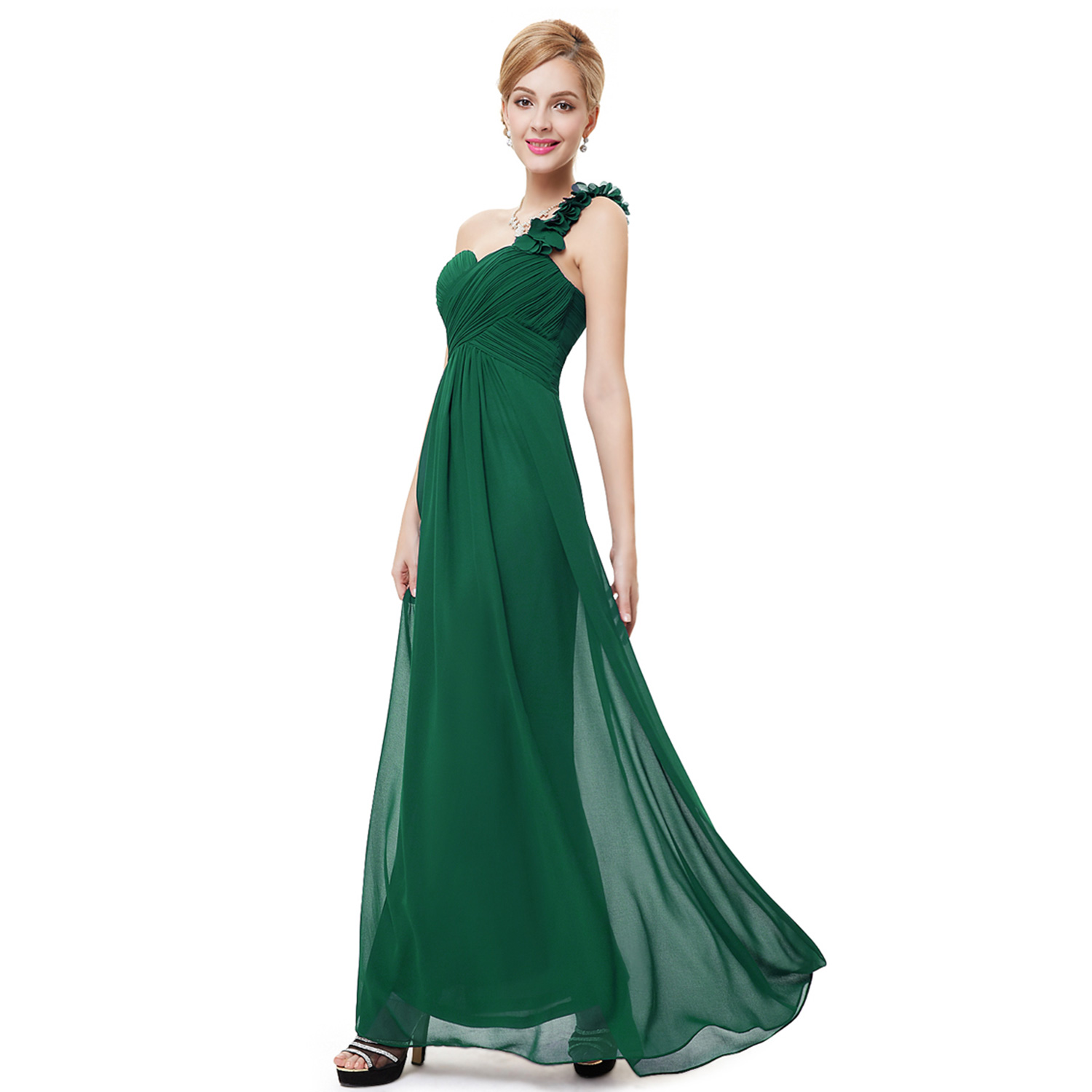 Ever-Pretty One Shoulder Long Evening Dresses Formal Bridesmaid Prom ...