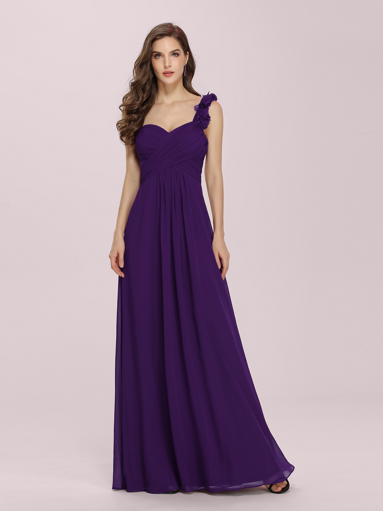 Ever-Pretty Long Bridesmaid Dresses One Shoulder Maternity Party ...