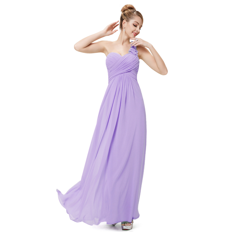Ever-Pretty One Shoulder Long Evening Dresses Formal Bridesmaid Prom ...