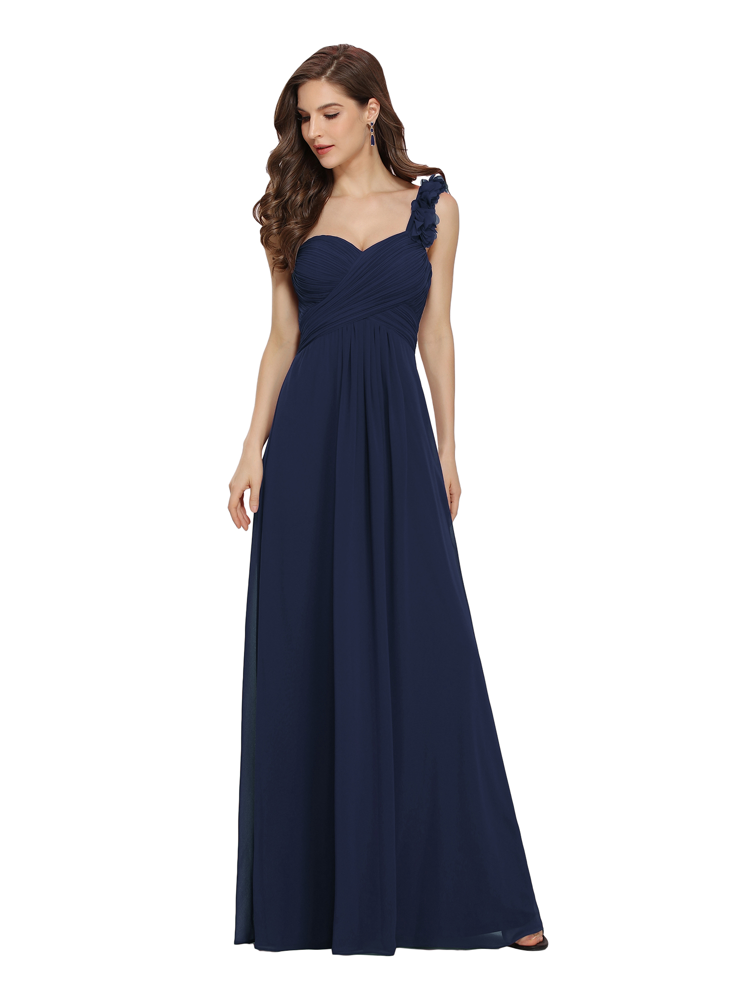 Ever-Pretty US One Shoulder Long Evening Dresses Formal Bridesmaid ...