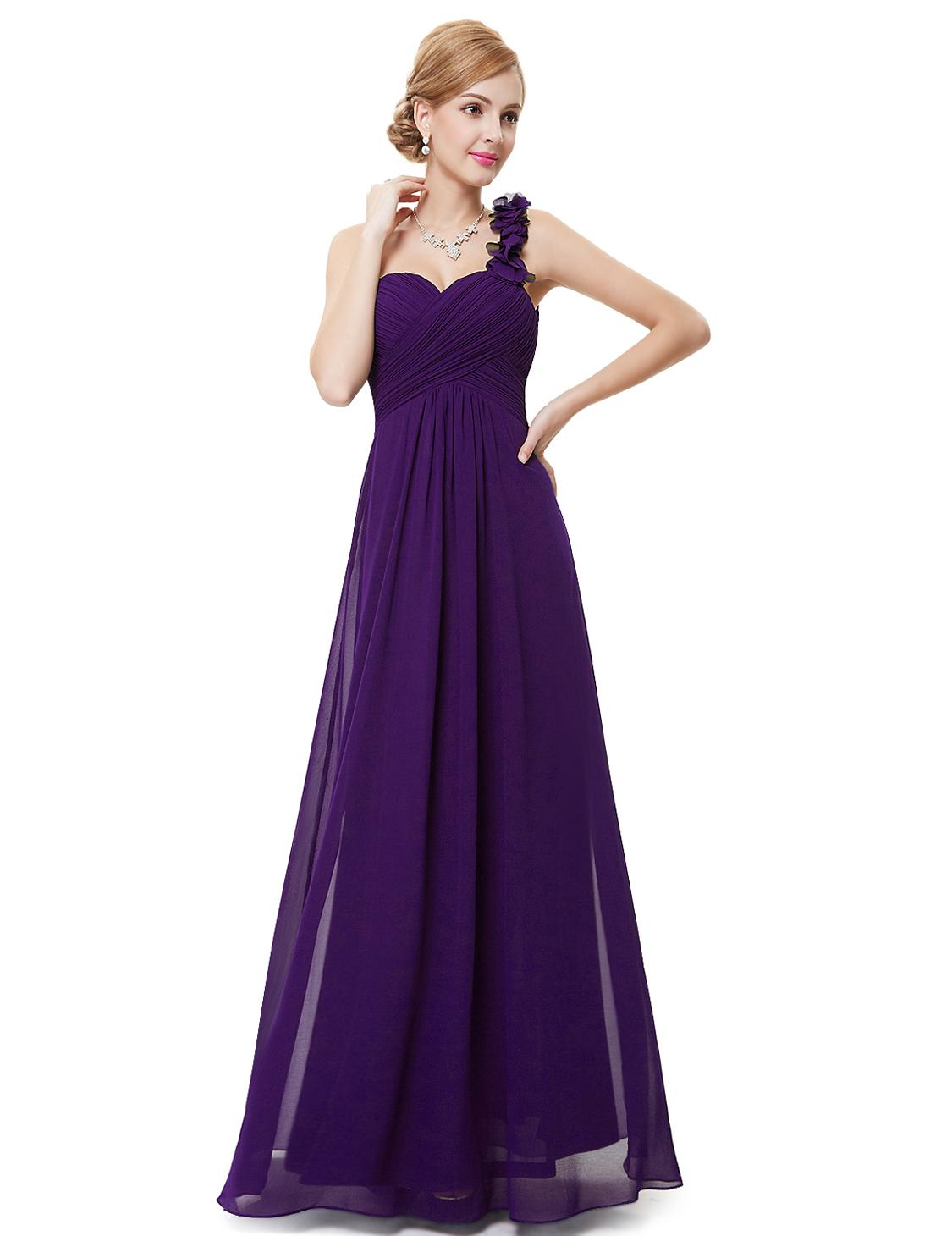 US Ever-Pretty Long Chiffon A-line Bridesmaid Gown Formal Wedding ...