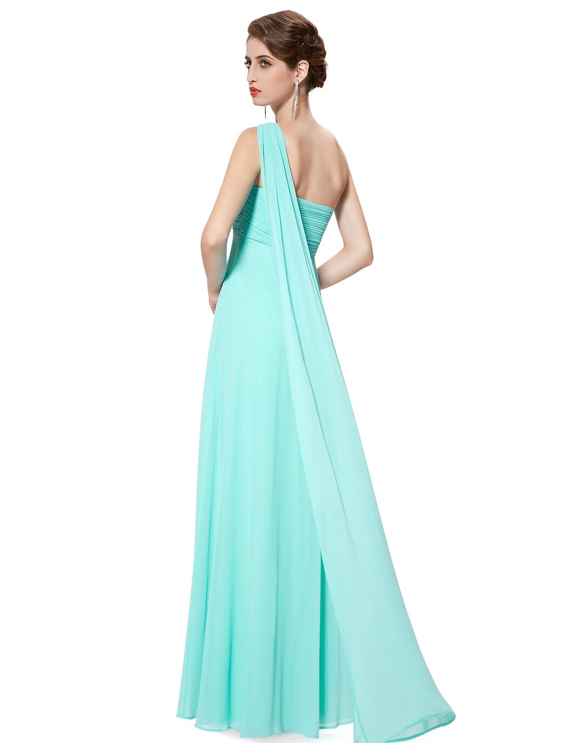 Ever-pretty UK Long Formal Evening Dresses One Shoulder Bridesmaid ...