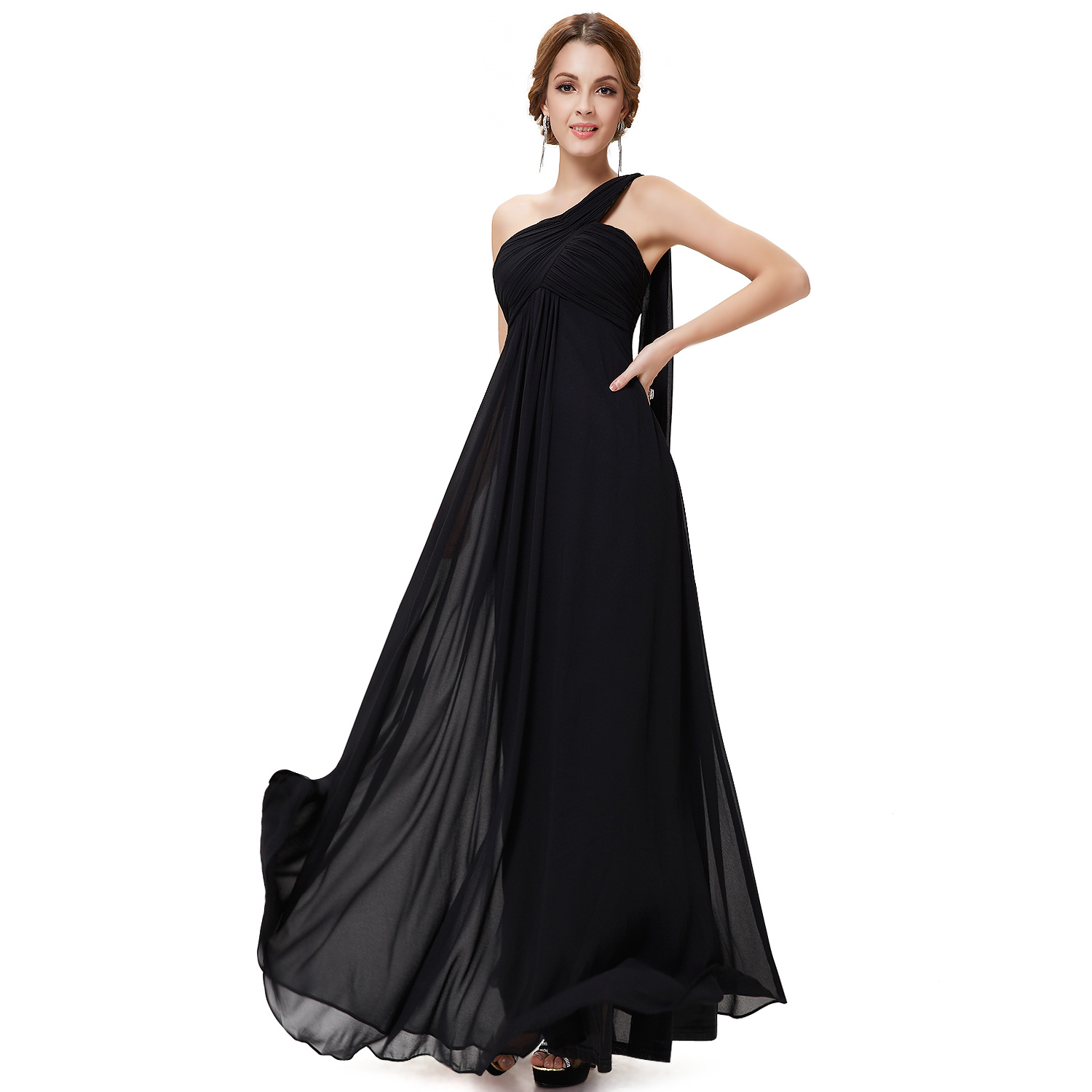 Ever pretty one shoulder evening dresses wedding guest for Ebay wedding bridesmaid dresses