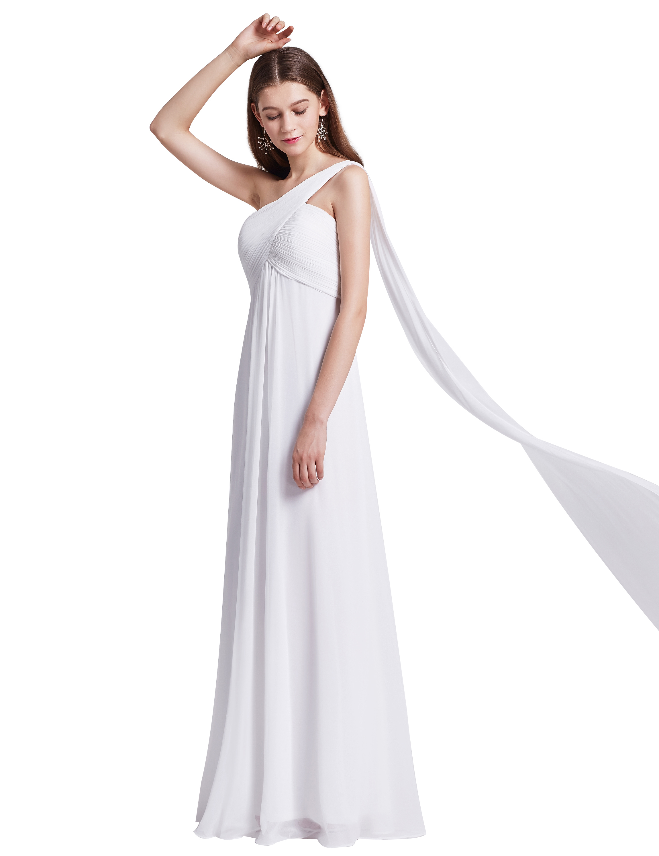 One Shoulder Long Prom Dresses Evening Bridesmaid Party Gowns 09816 ...