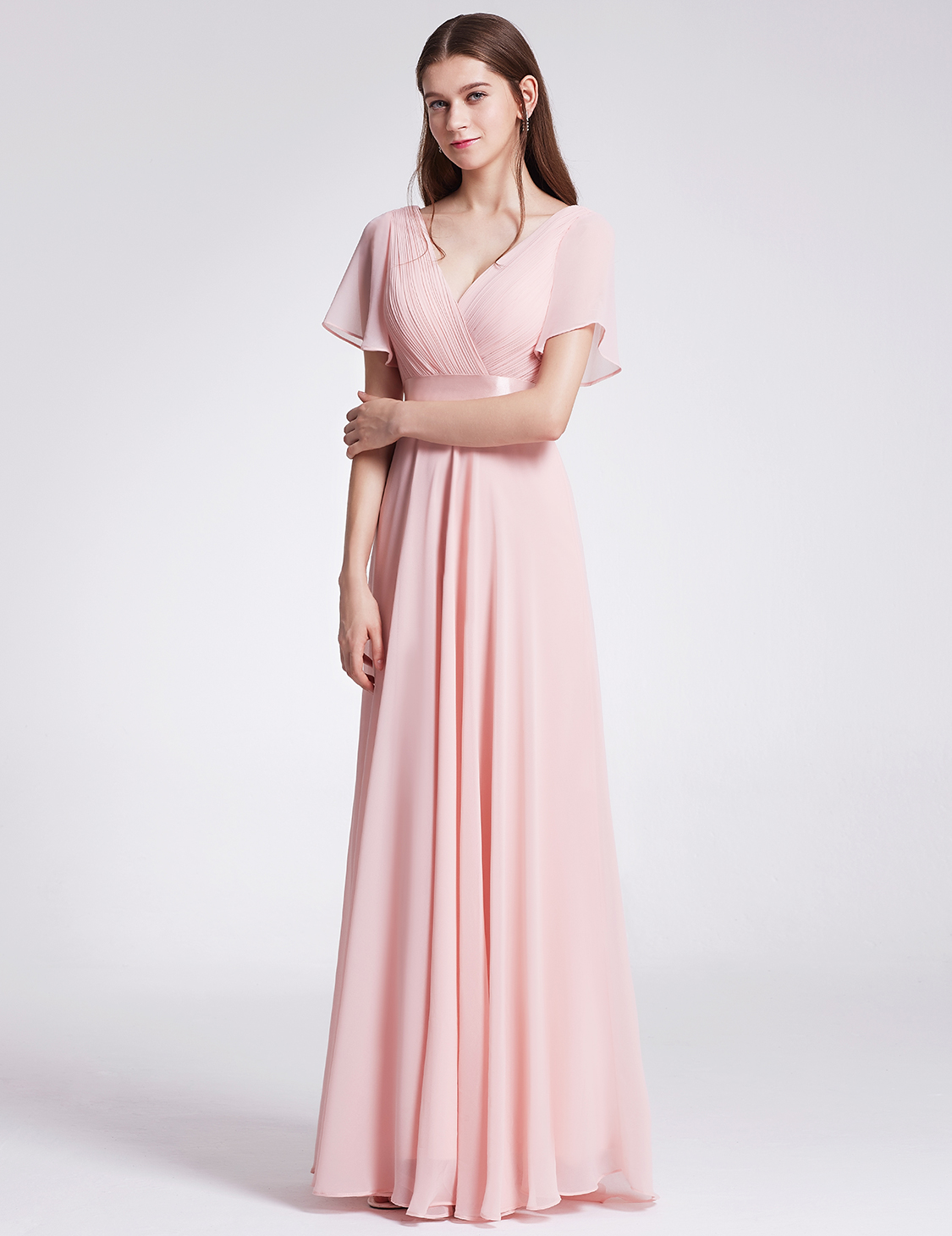 Ever-Pretty Bridesmaid Dresses Short Sleeve Long Mother of Bride ...