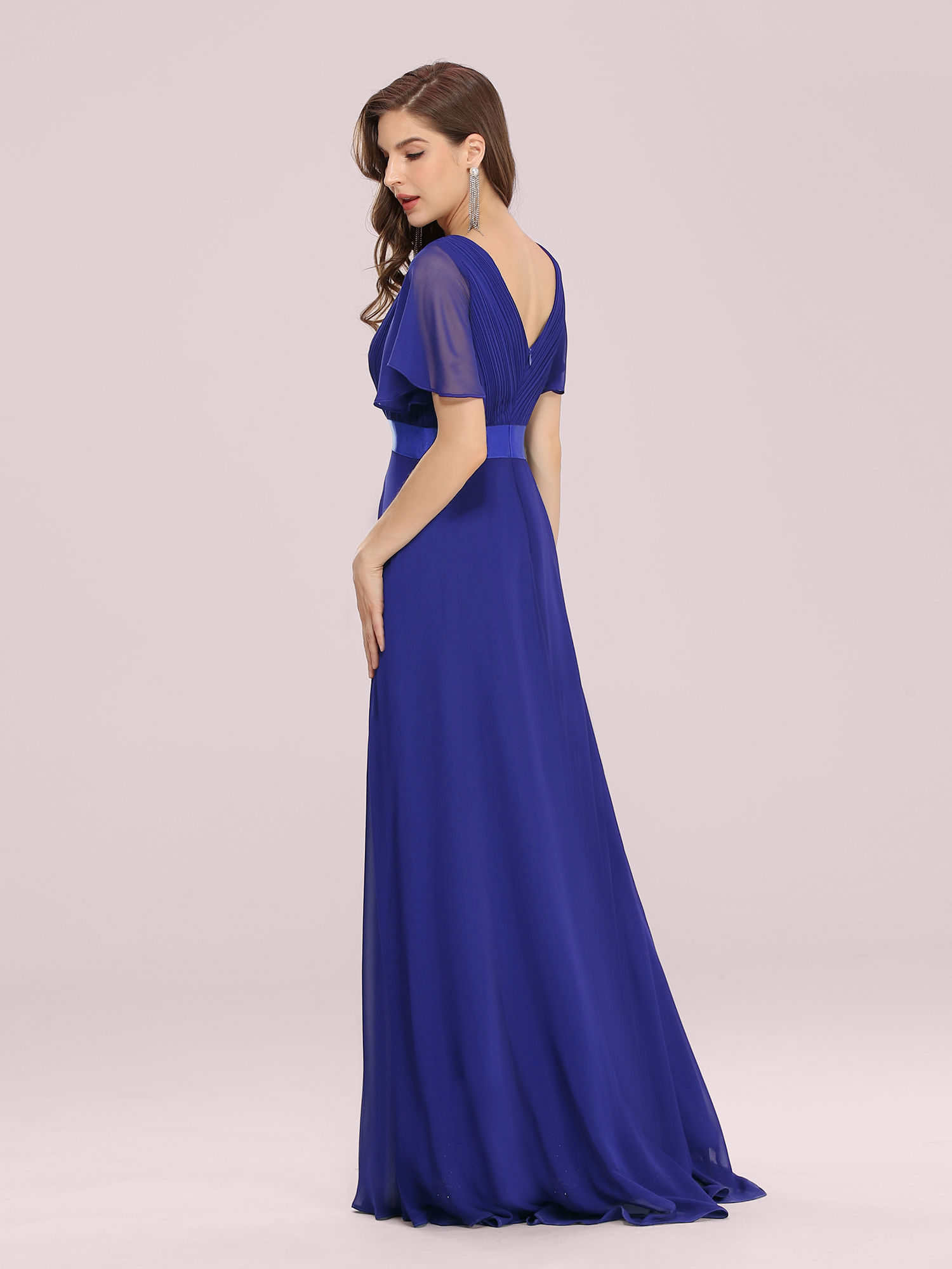 Ever-pretty UK Women V-neck Short Sleeve Evening Gown Formal Evening ...