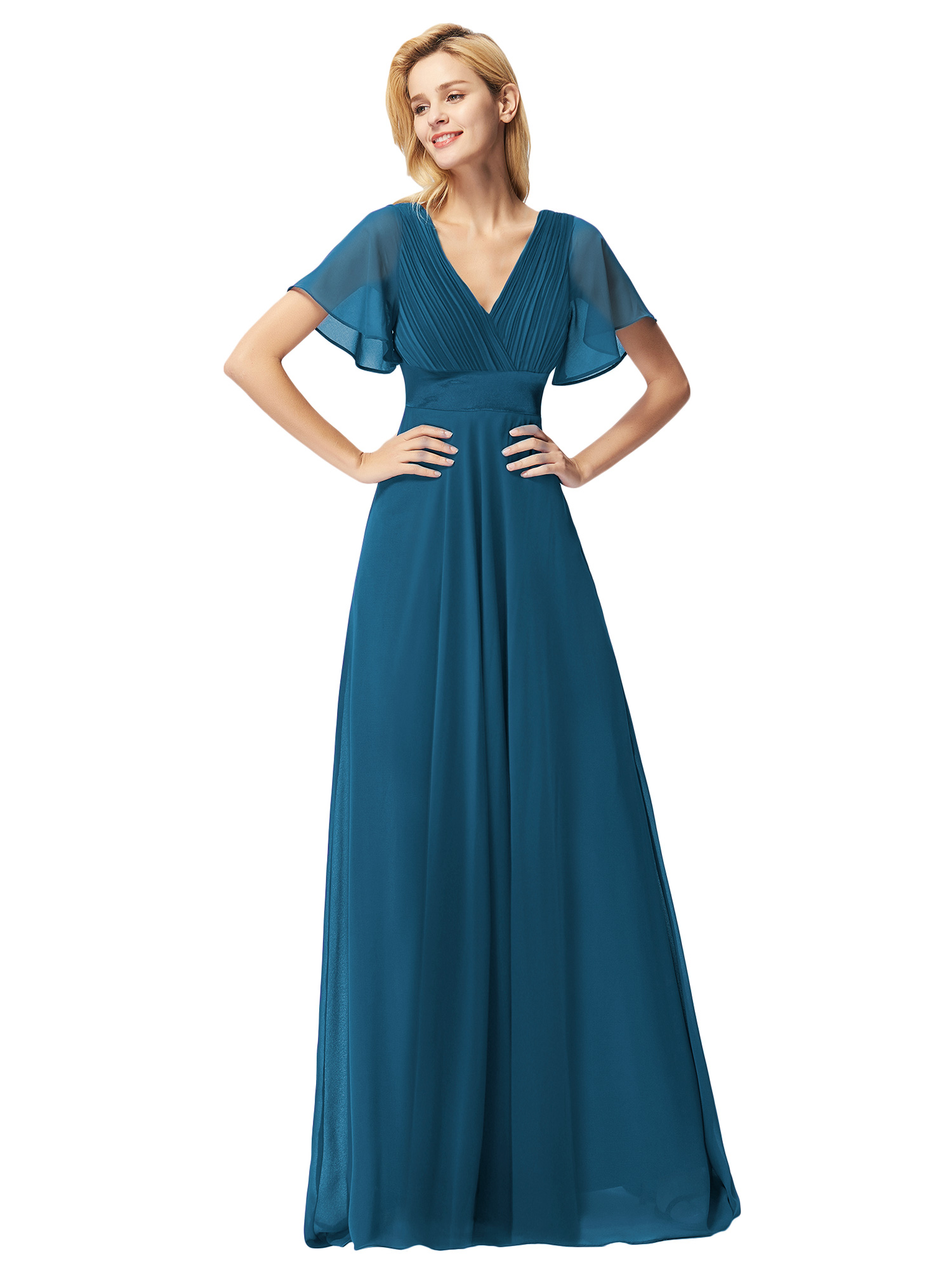 Ever-pretty-US-Short-Sleeve-Evening-Prom-Gown-Long-Formal-Cocktail-Party-Dresses thumbnail 9