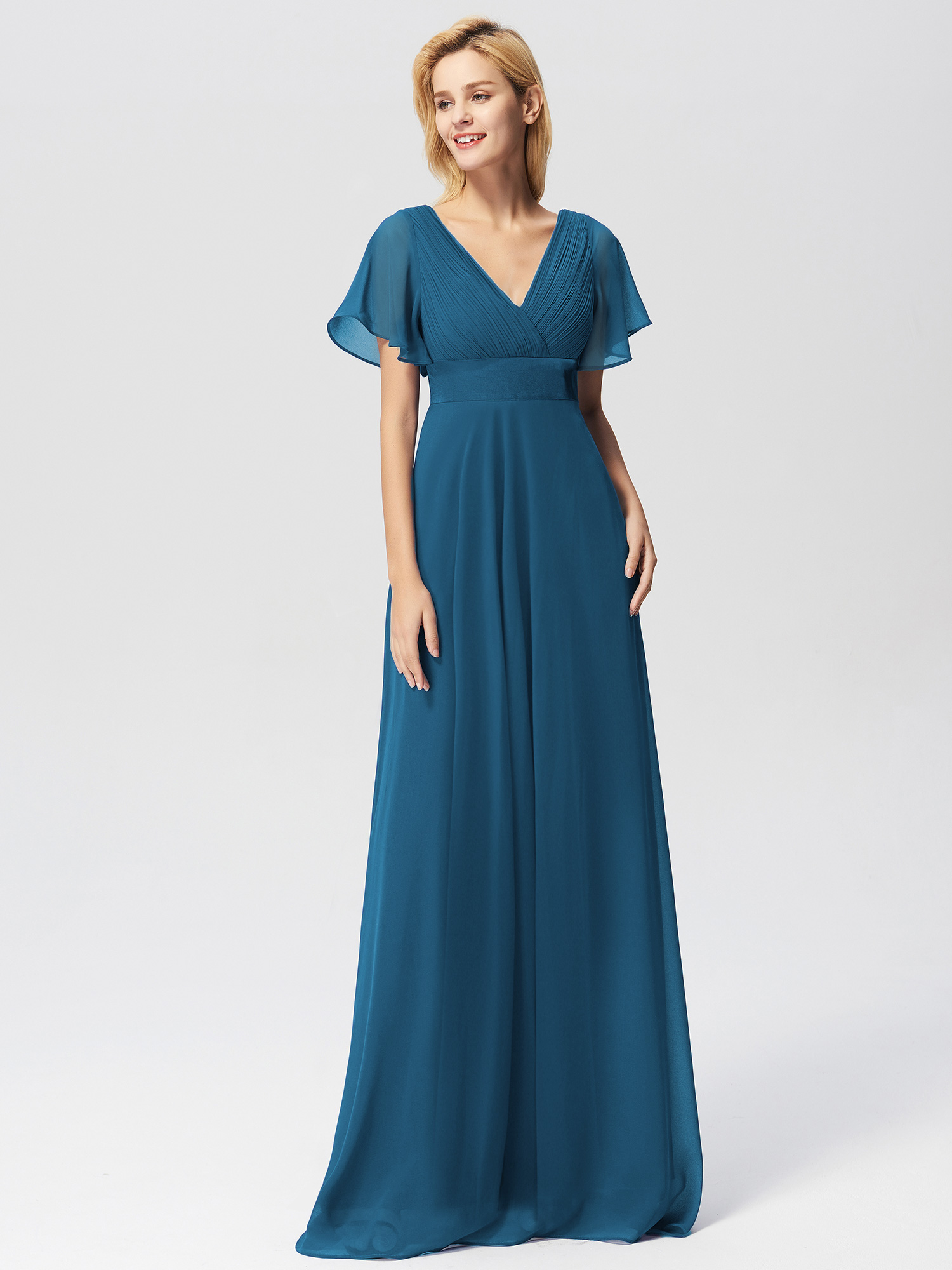Ever-pretty-US-Short-Sleeve-Evening-Prom-Gown-Long-Formal-Cocktail-Party-Dresses thumbnail 11
