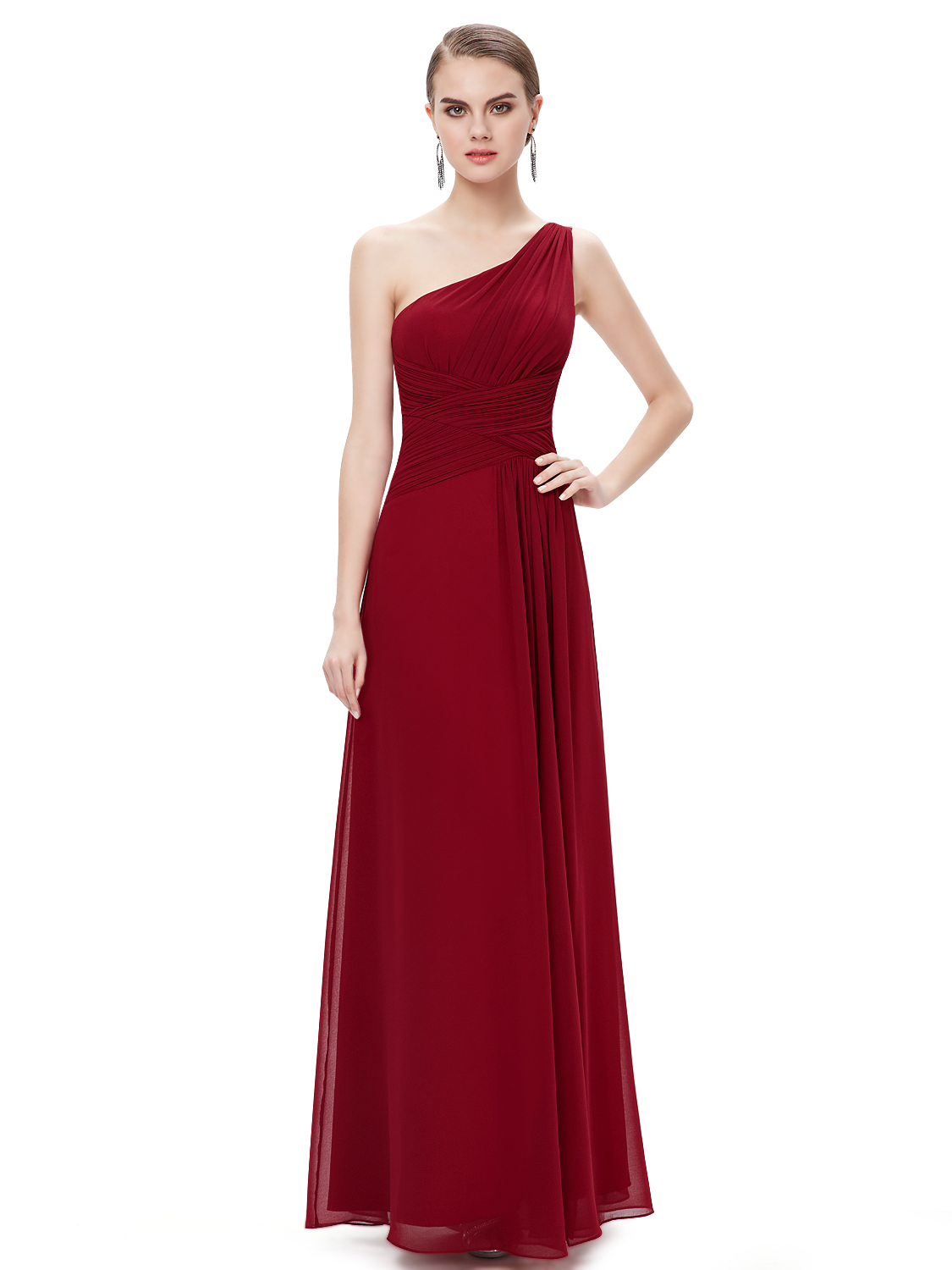Fashion One Shoulder Bridesmaid Dresses Homecoming Party Gown 09905 ...