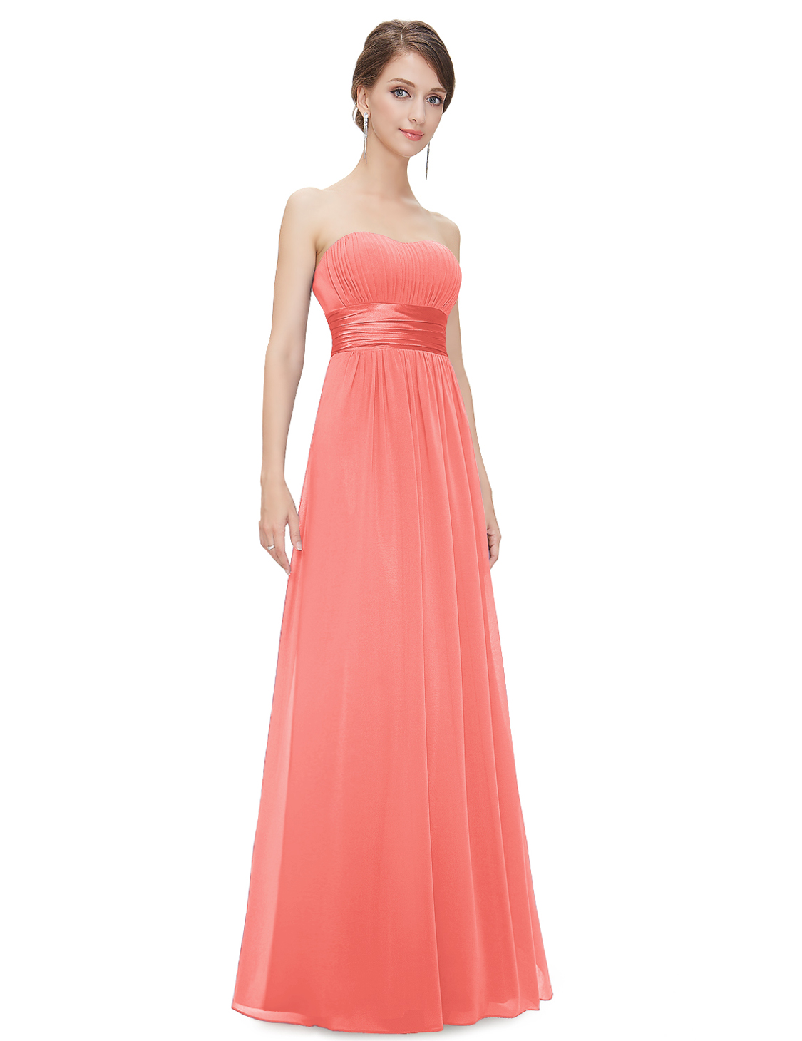Strapless wedding ball long bridesmaid dress ball party for Pretty dress for wedding