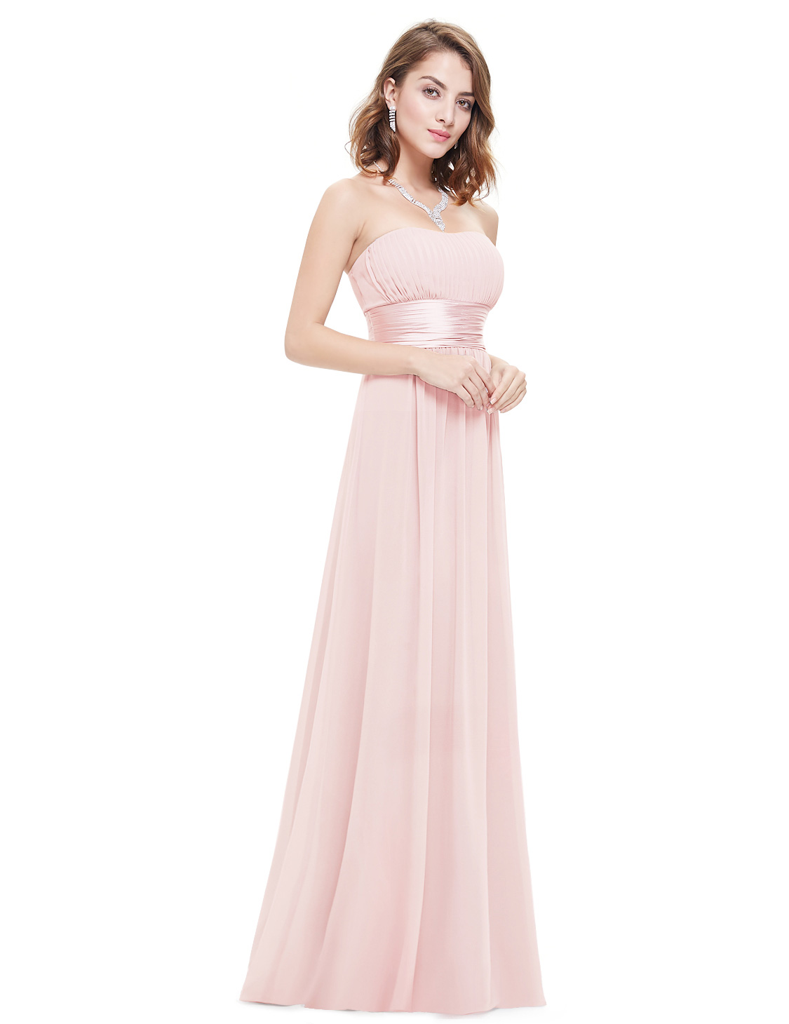 Ever-pretty Women Pink Long Bridesmaid Wedding Dresses Evening Prom ...