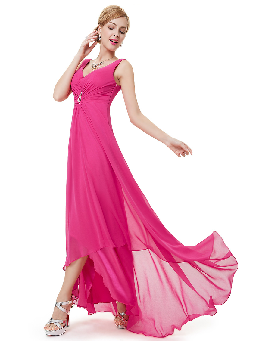 Ever-Pretty-Bridesmaid-Dresses-Chiffon-Long-V-Neck-High-Low-Prom-Ball-Gown-09983