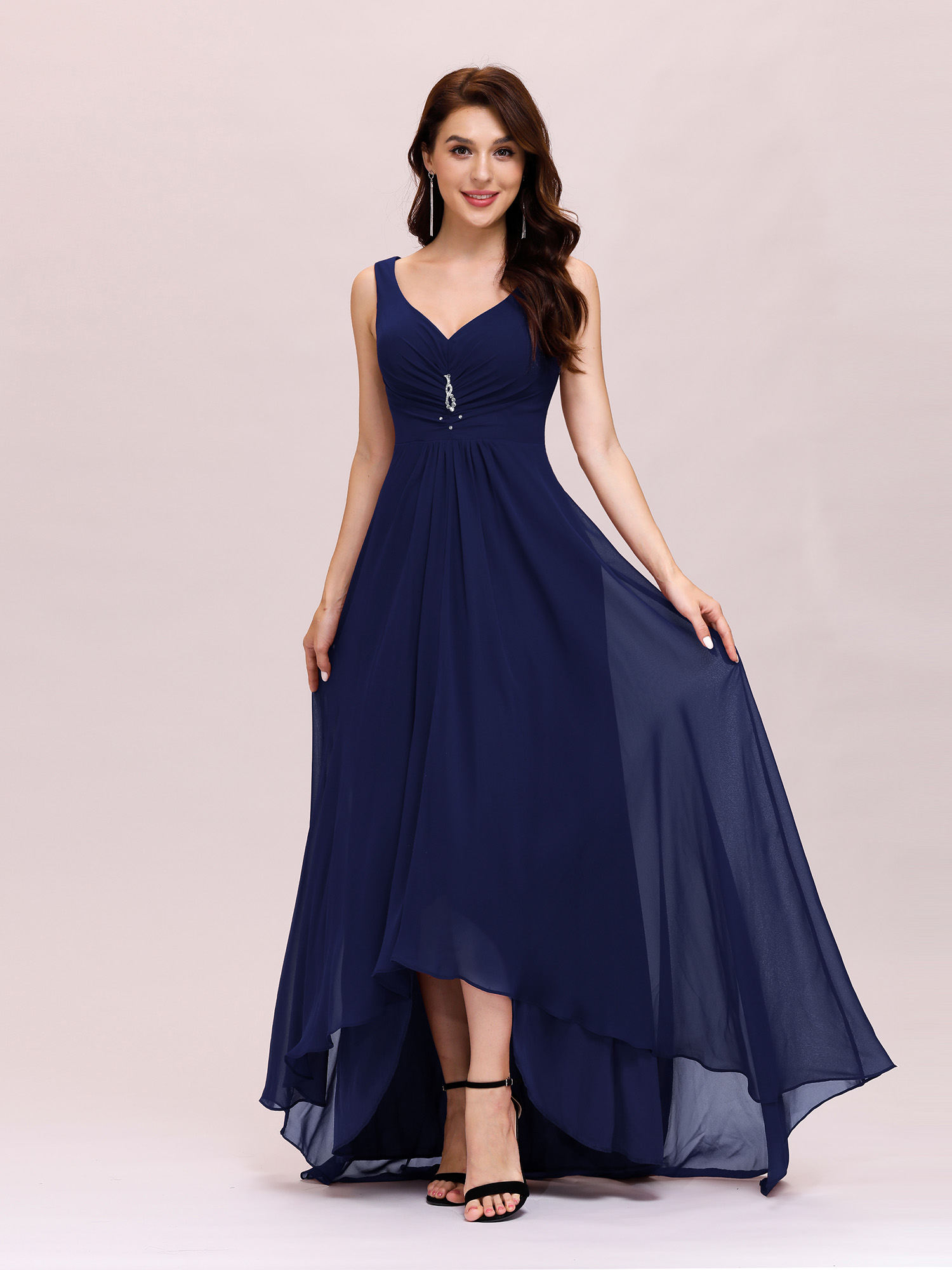 US-Women-Long-High-low-Formal-Evening-Party-Bridesmaid-Ball-Gown-Prom-Dress-9983 thumbnail 7