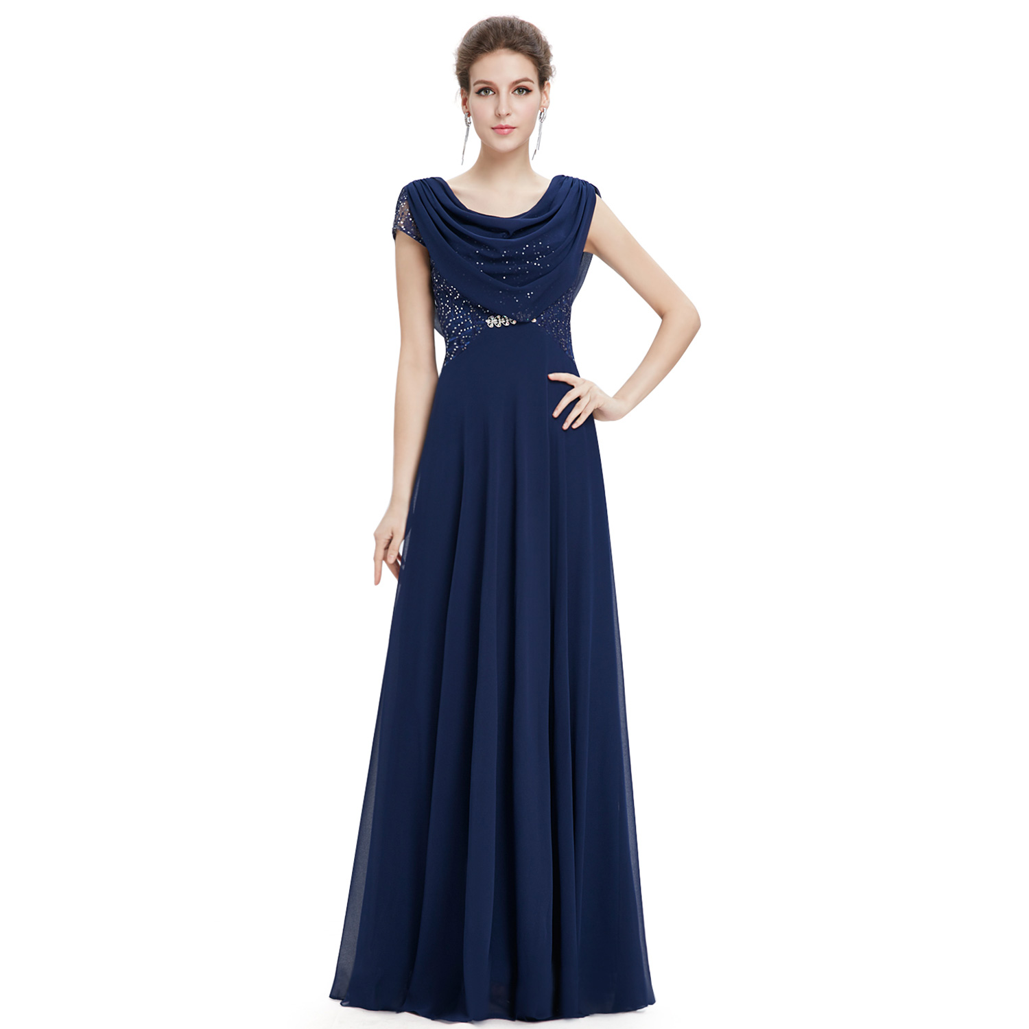 Womens Cowl Neck Mother Of The Bride Dresses Formal