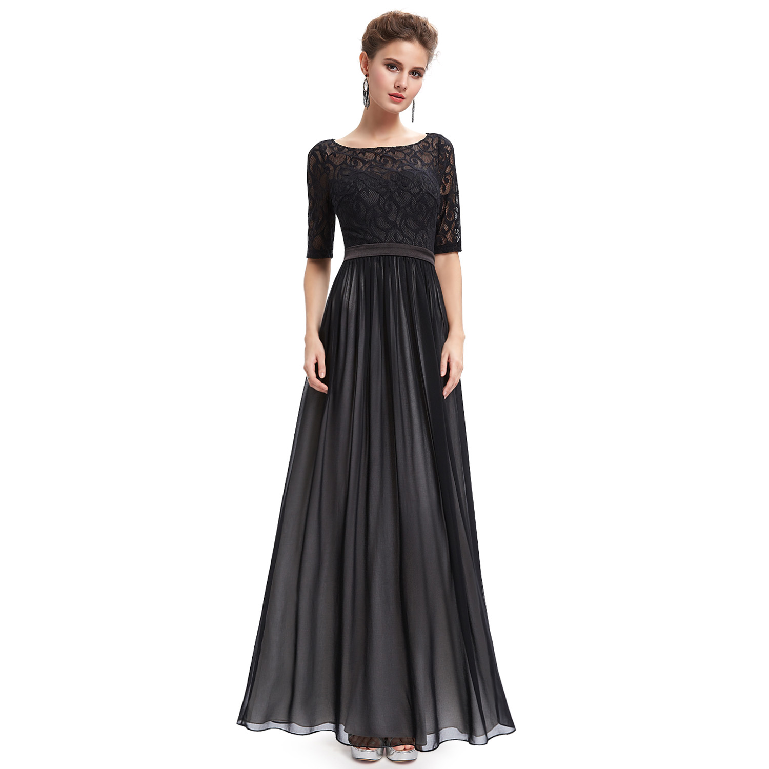 Ever-Pretty Women Mother Of Bride Ball Gown Black Formal Evening ...