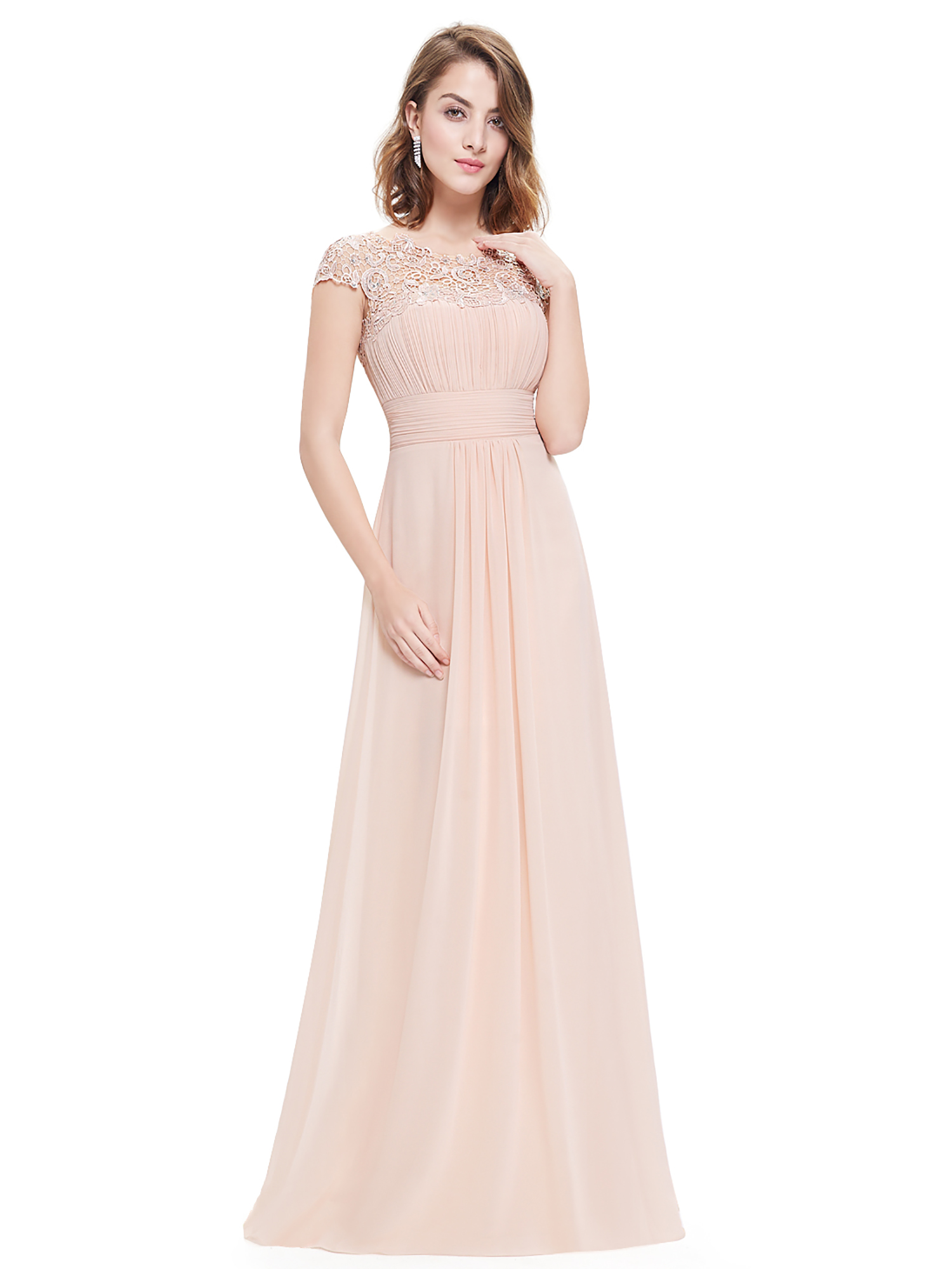 Ever-Pretty Plus Size Formal Gown Long Holiday Beach Blush Wedding Dresses  09993