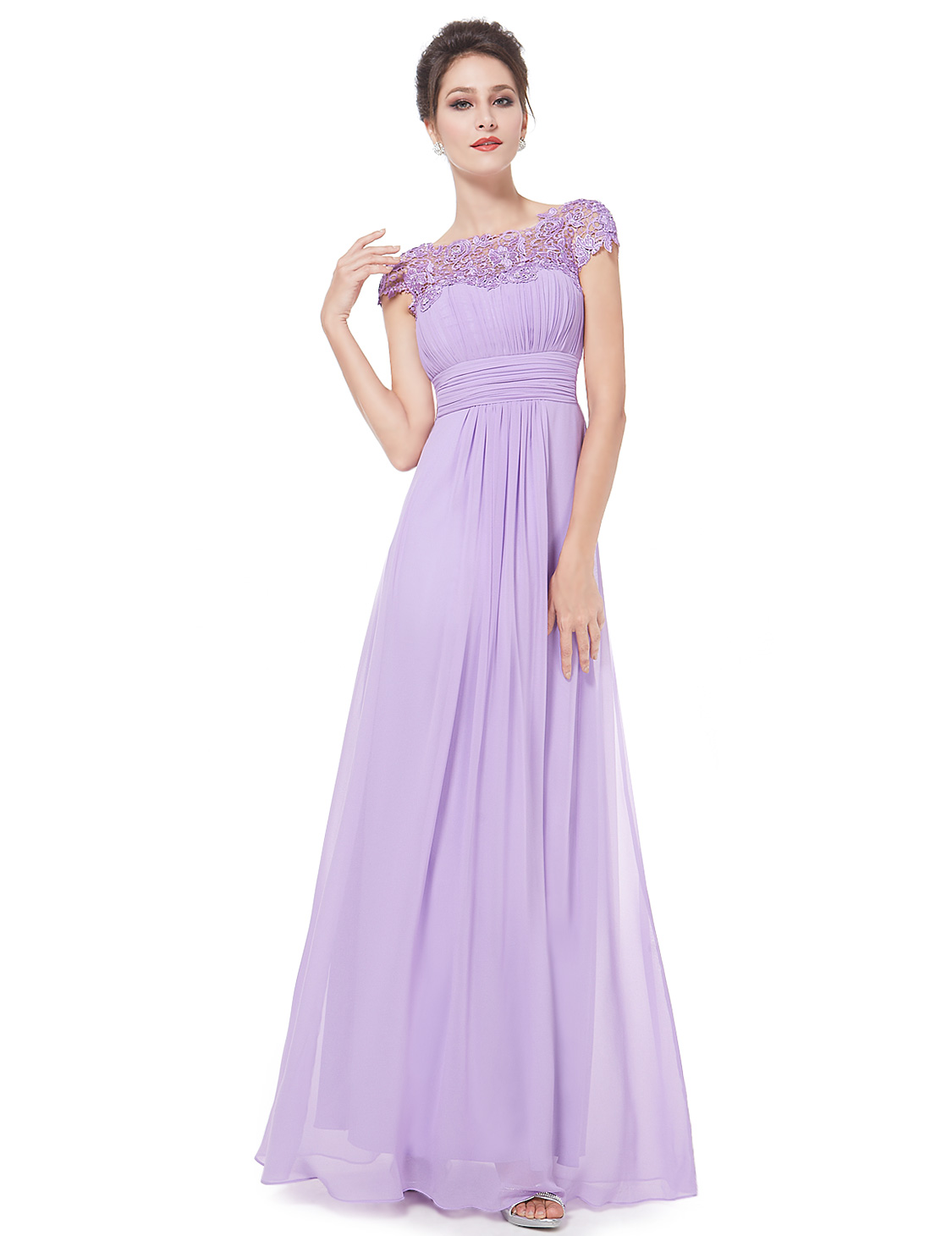 Ever-Pretty Long Formal Wedding Dress Lace Bridesmaid Evening Party ...
