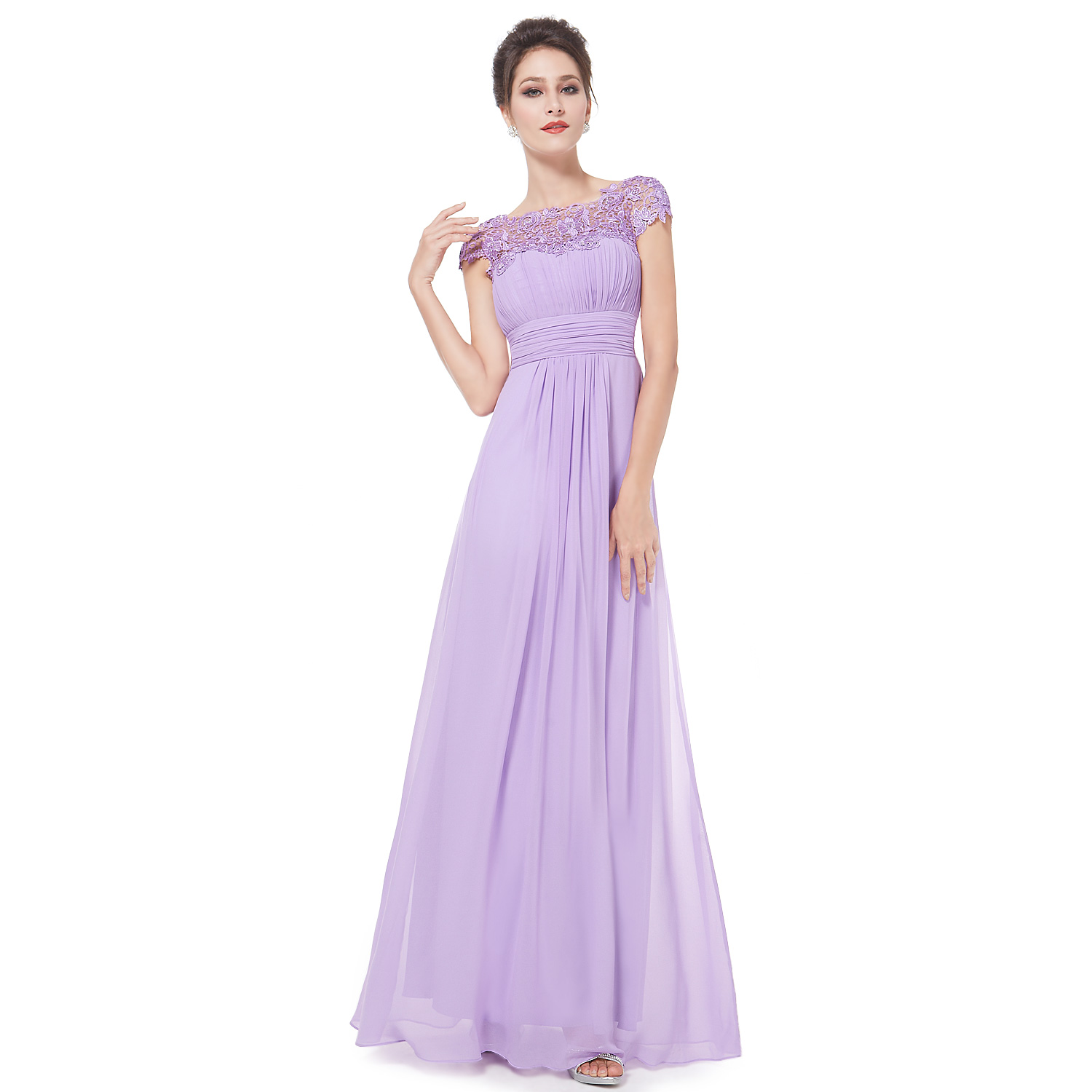 Ever-Pretty Lace Evening Party Dress Long Wedding Guest Bridesmaid ...