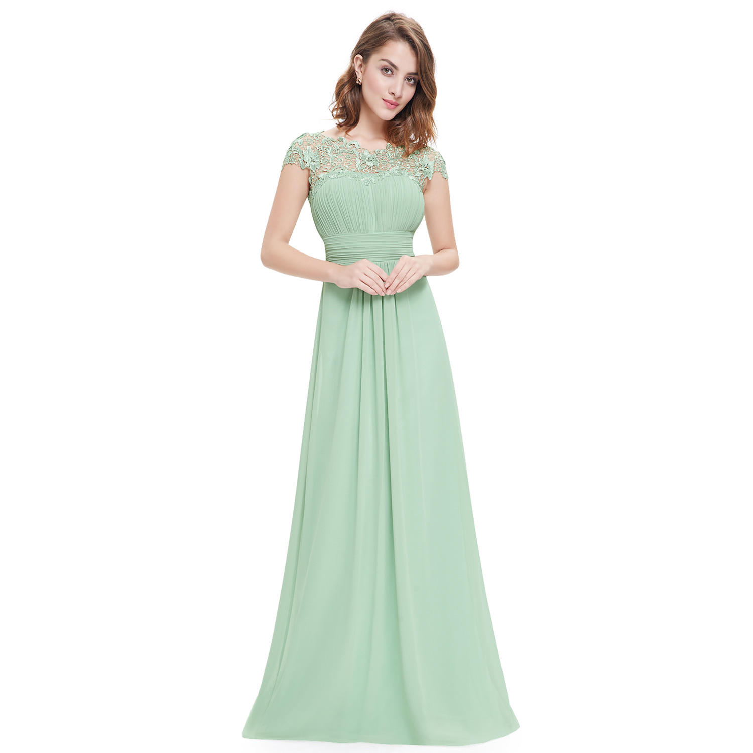 Ever-Pretty Long Chiffon Prom Dresses Lace Bridesmaid Formal Evening ...