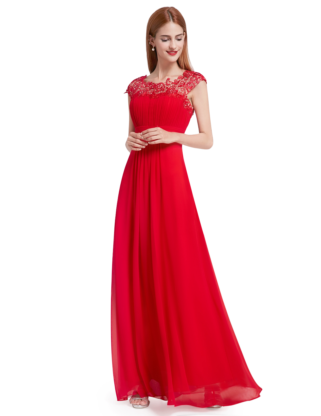 Ever-Pretty Long Maxi Lace Bridesmaid Evening Formal Dress Party ...