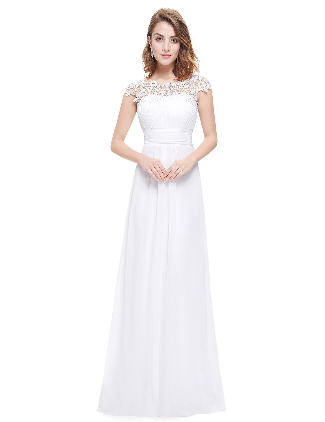 Ever pretty long lace wedding bridesmaid evening formal for Ever pretty wedding dresses