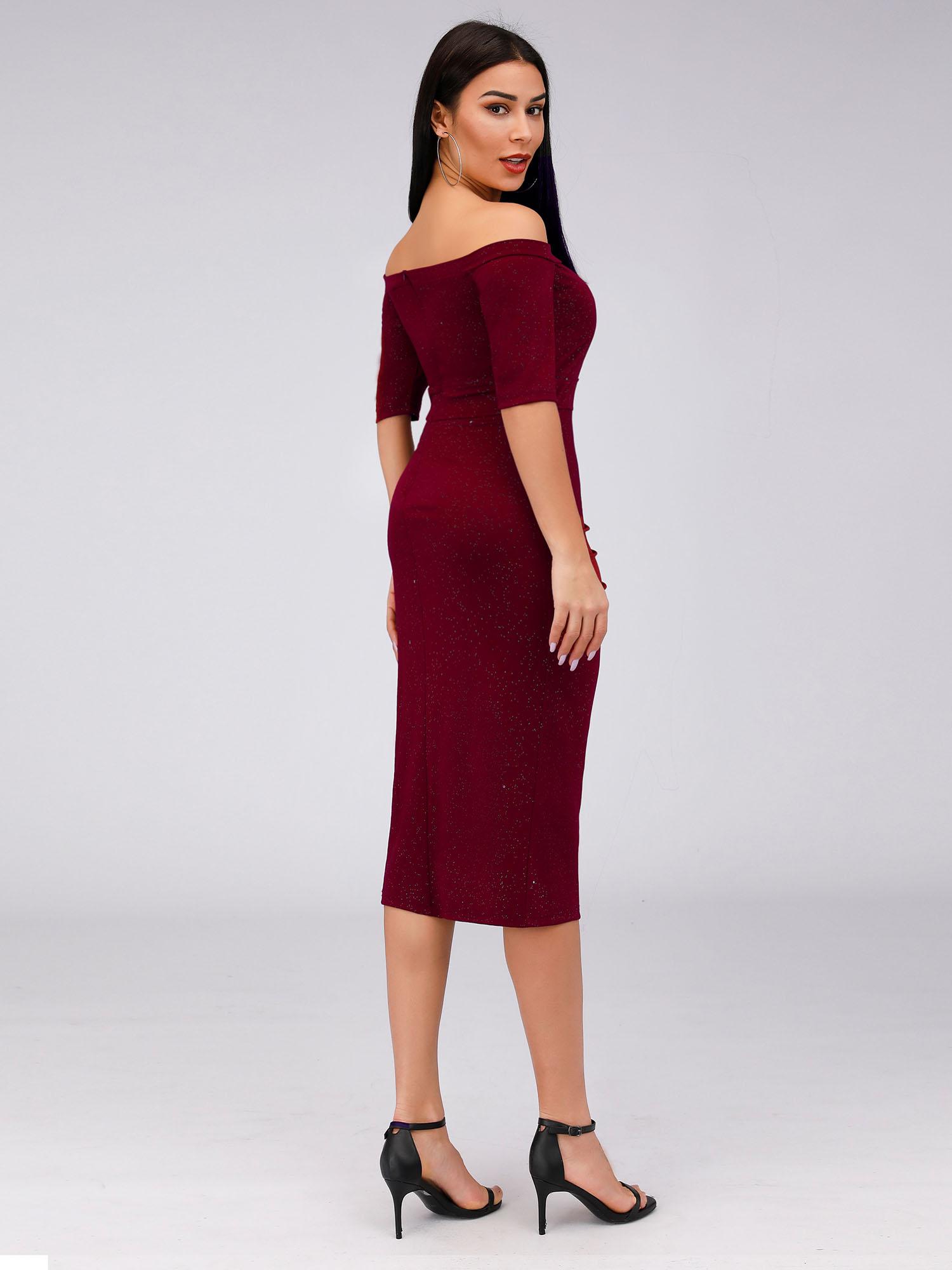 Ever-pretty US Burgundy Short Clubwear Party Dresses ...