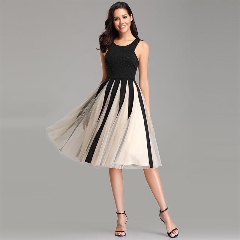 0bb87817562 Details about UK Ever-Pretty Womans Chiffon Cocktail Party Dress A-line  Short Casual Dresses
