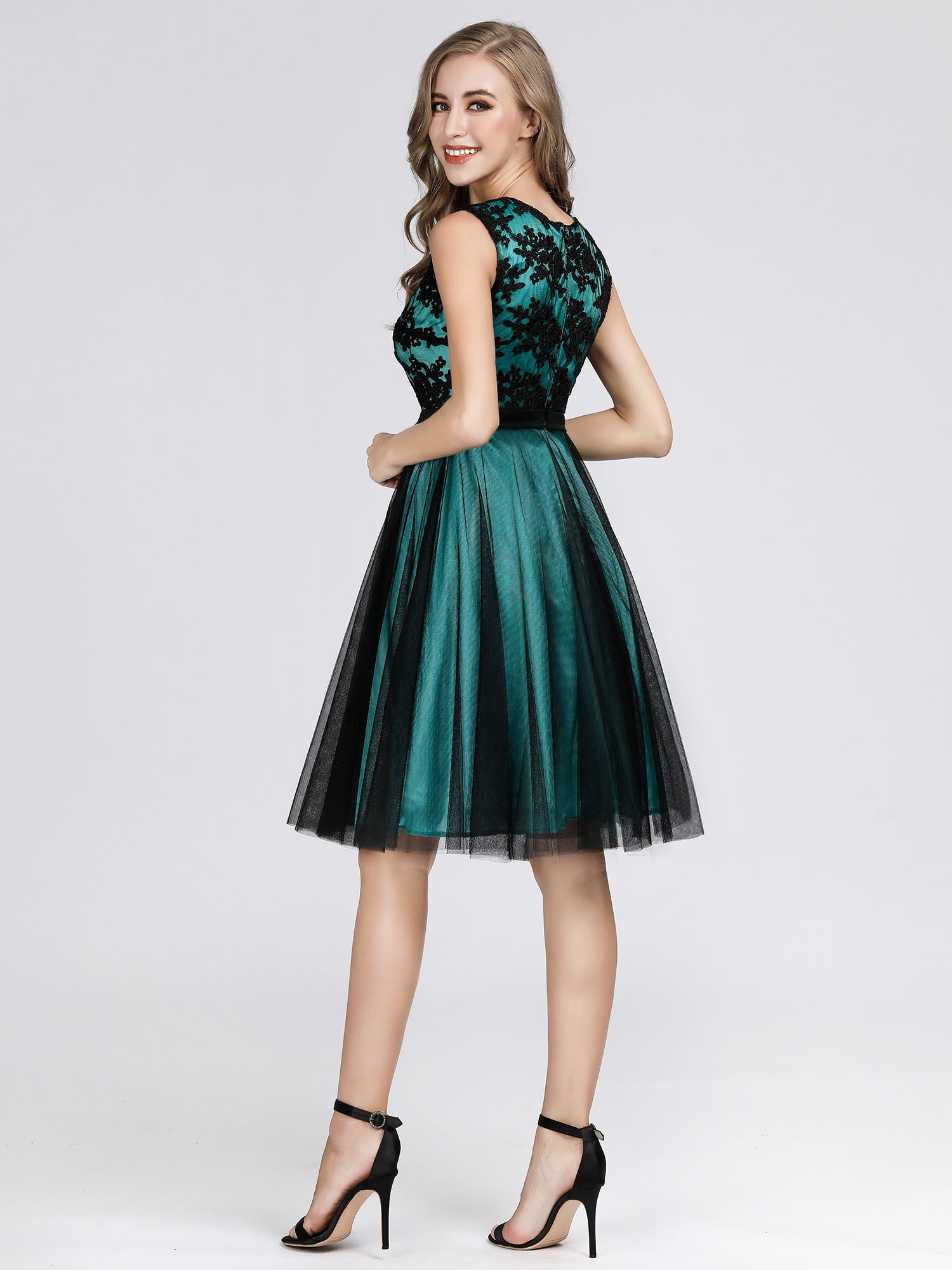 Ever-pretty Short Lace Bridesmaid Party Dresses Cocktail Prom Gowns Clubwear