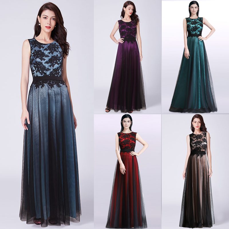 Ever-Pretty Womens Elegant Tulle Long Evening Prom Party Homecoming  Bridesmaid Dresses for Women 07545 7968b4010067