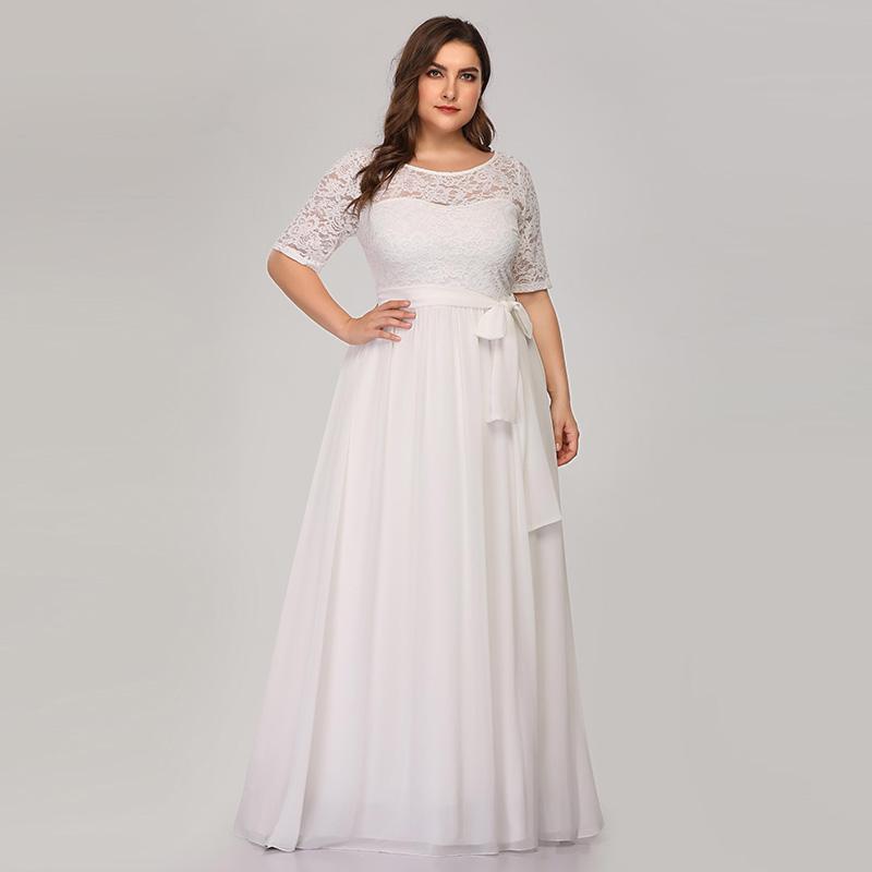 Plus size white dress