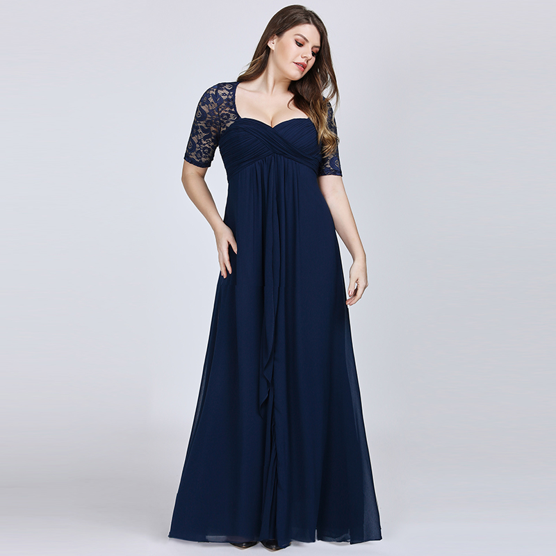 Ever-Pretty Plus Size Chiffon Mother of the Bride Dresses ...