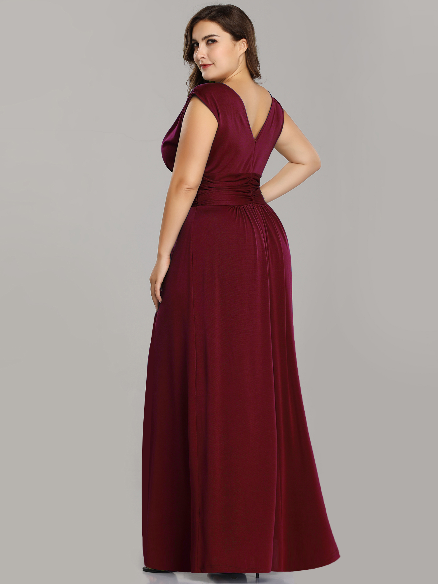 a7ed6cdfc30 Burgundy Plus Size Evening Dress - Gomes Weine AG