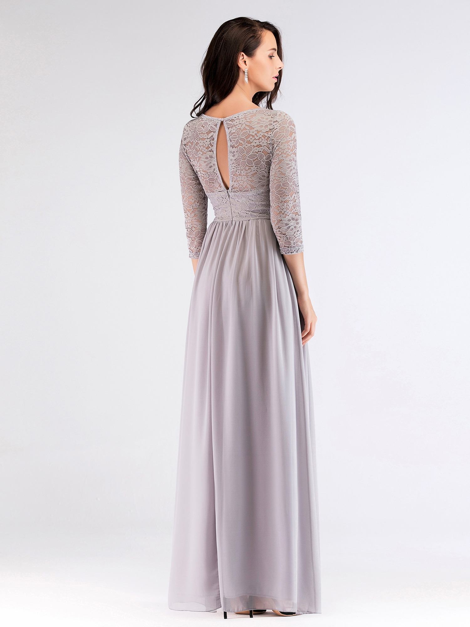 Ever-Pretty-Long-3-4-Lace-Bridesmaid-Dresses-Elegant-Evening-Prom-Party-Dresses thumbnail 12