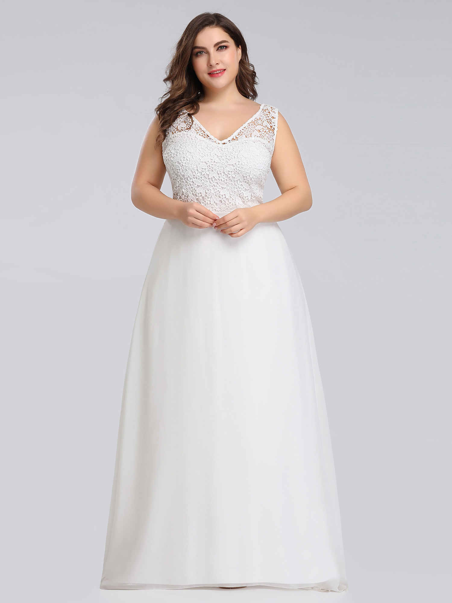 Ever Pretty Us Plus Size Wedding Dress Long V Neck Lace Bridesmaid Gowns 07686 Ebay,Beach Wedding Guest Dresses 2020