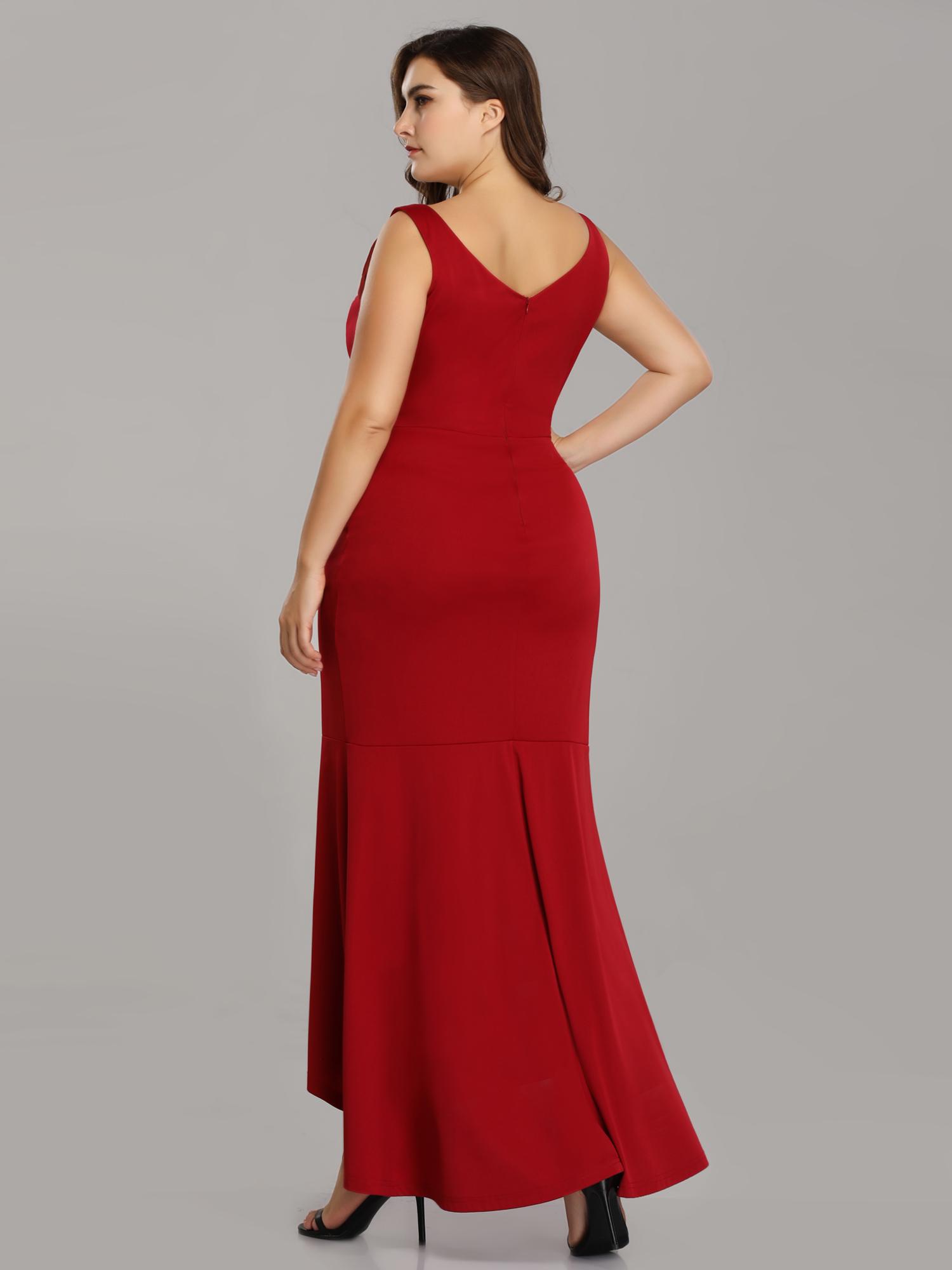 d9d6b524d63e Burgundy Formal Dresses Plus Size | Saddha