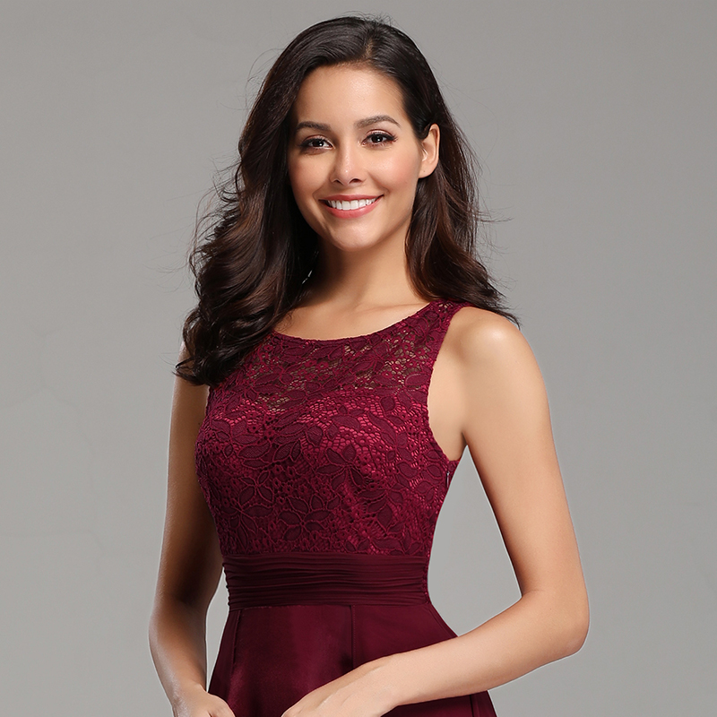 Ever-Pretty-Long-Burgundy-Bridesmaid-Dresses-Sleeveless-Party-Formal-Gown-07695 thumbnail 7